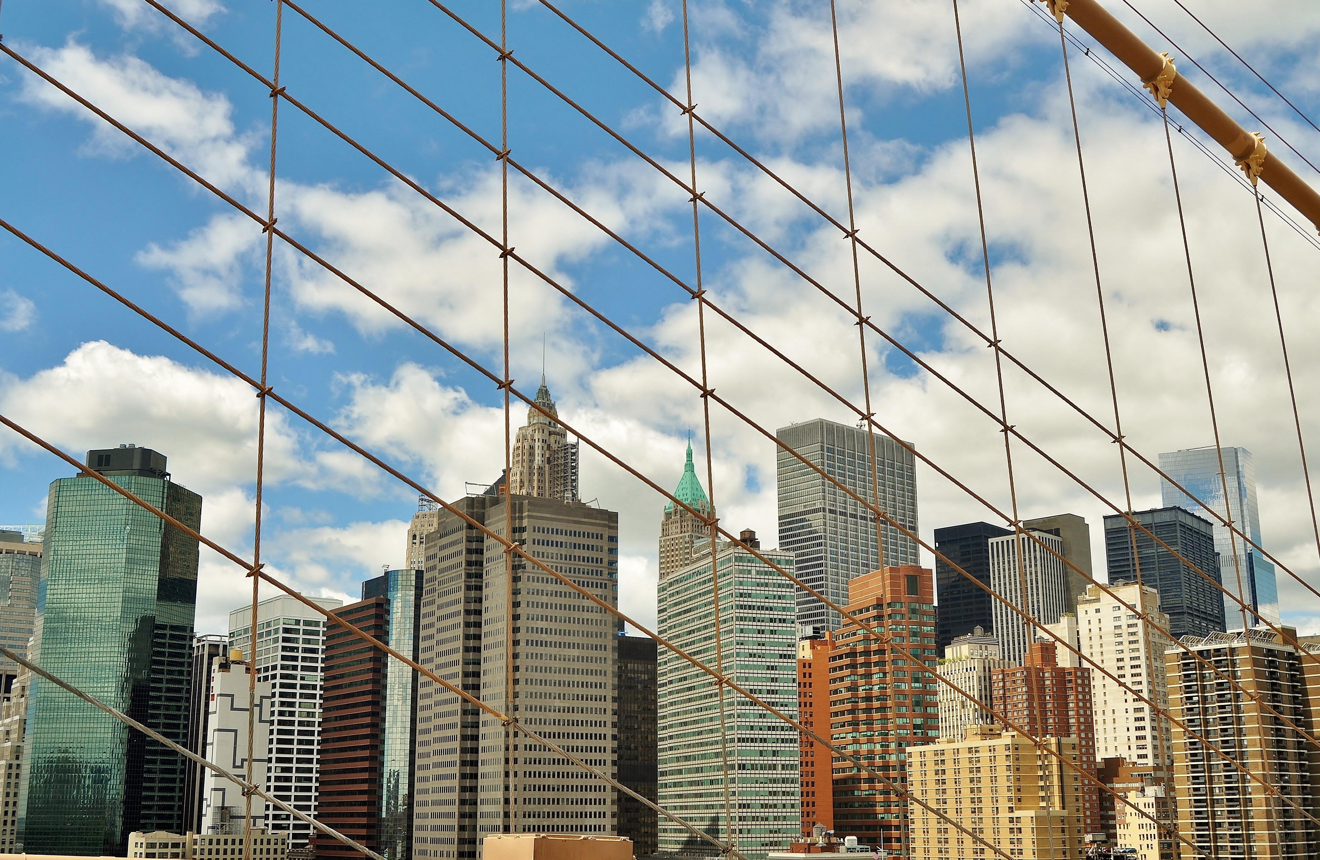 fotos gratis cielo sol puente horizonte pueblo ver edificio rascacielos nueva york manhattan paisaje urbano centro de la ciudad