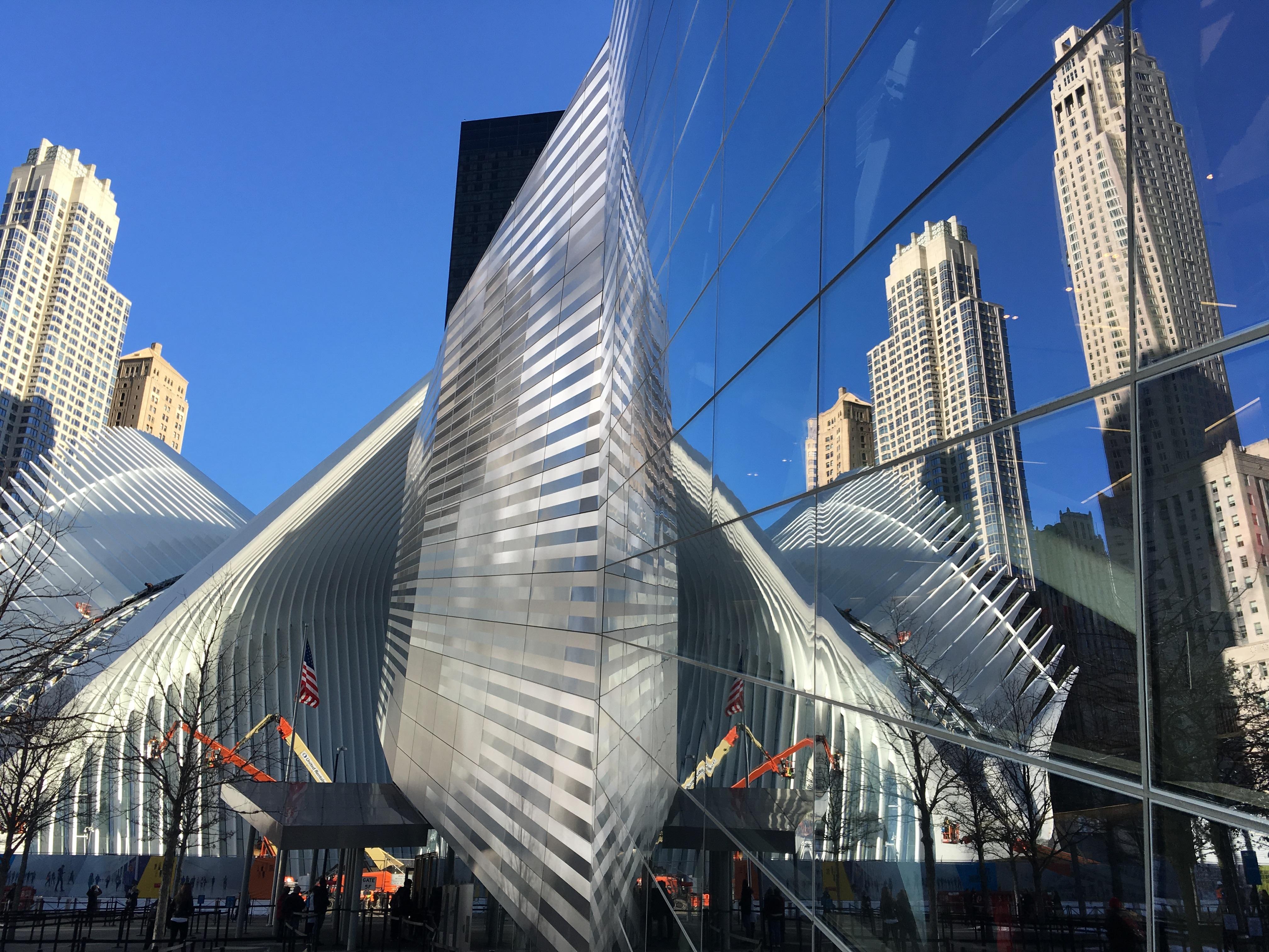 rascacielos nueva york paisaje urbano centro de la ciudad punto de referencia fachada zona de impacto bloque de pisos metrpoli memorial