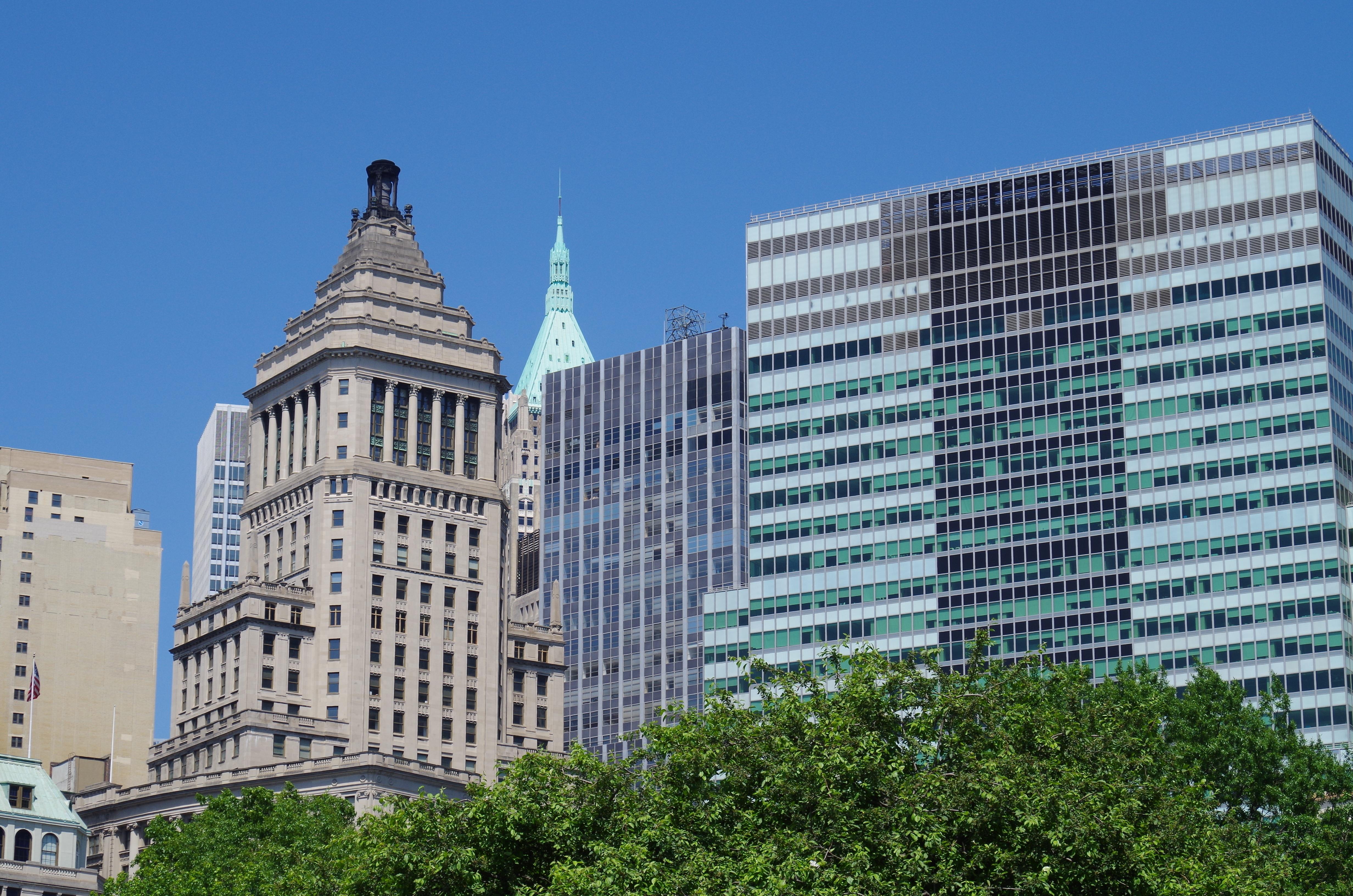 fotos gratis horizonte edificio rascacielos nueva york paisaje urbano centro de la ciudad torre plaza america punto de referencia