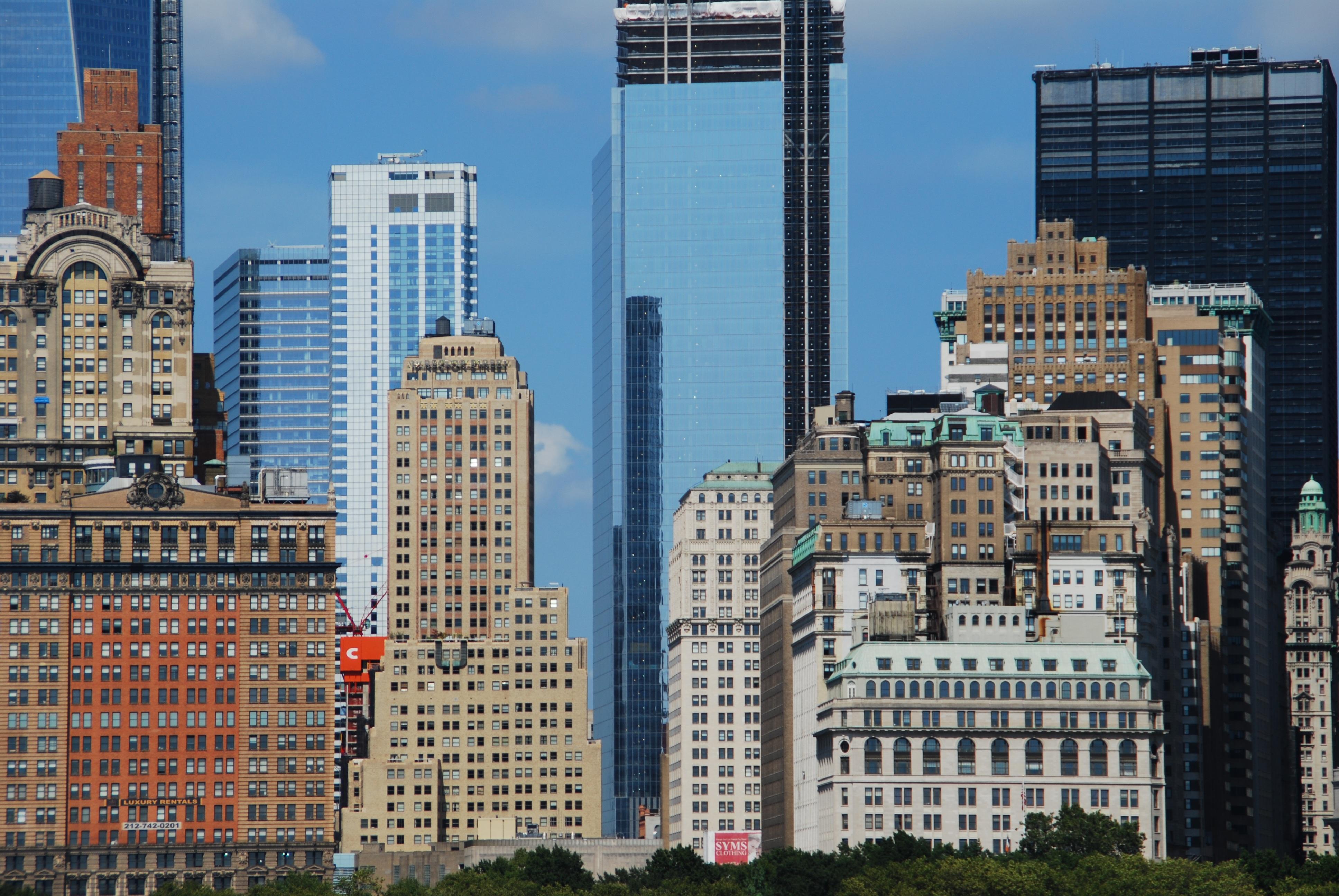 fotos gratis horizonte edificio rascacielos nueva york paisaje urbano centro de la ciudad torre estados unidos america