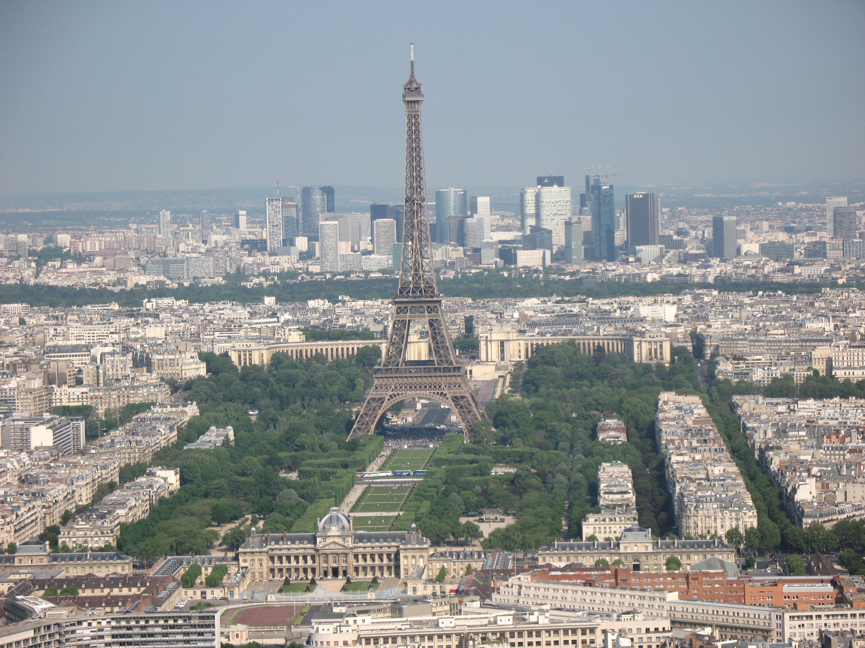 Kostenlose foto die architektur skyline stadt paris for Paris paysage