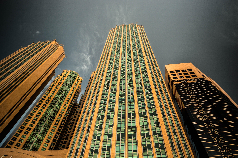 noche edificio rascacielos paisaje urbano centro de la ciudad lnea torre punto de referencia bloque de pisos simetra emiratos abu dhabi