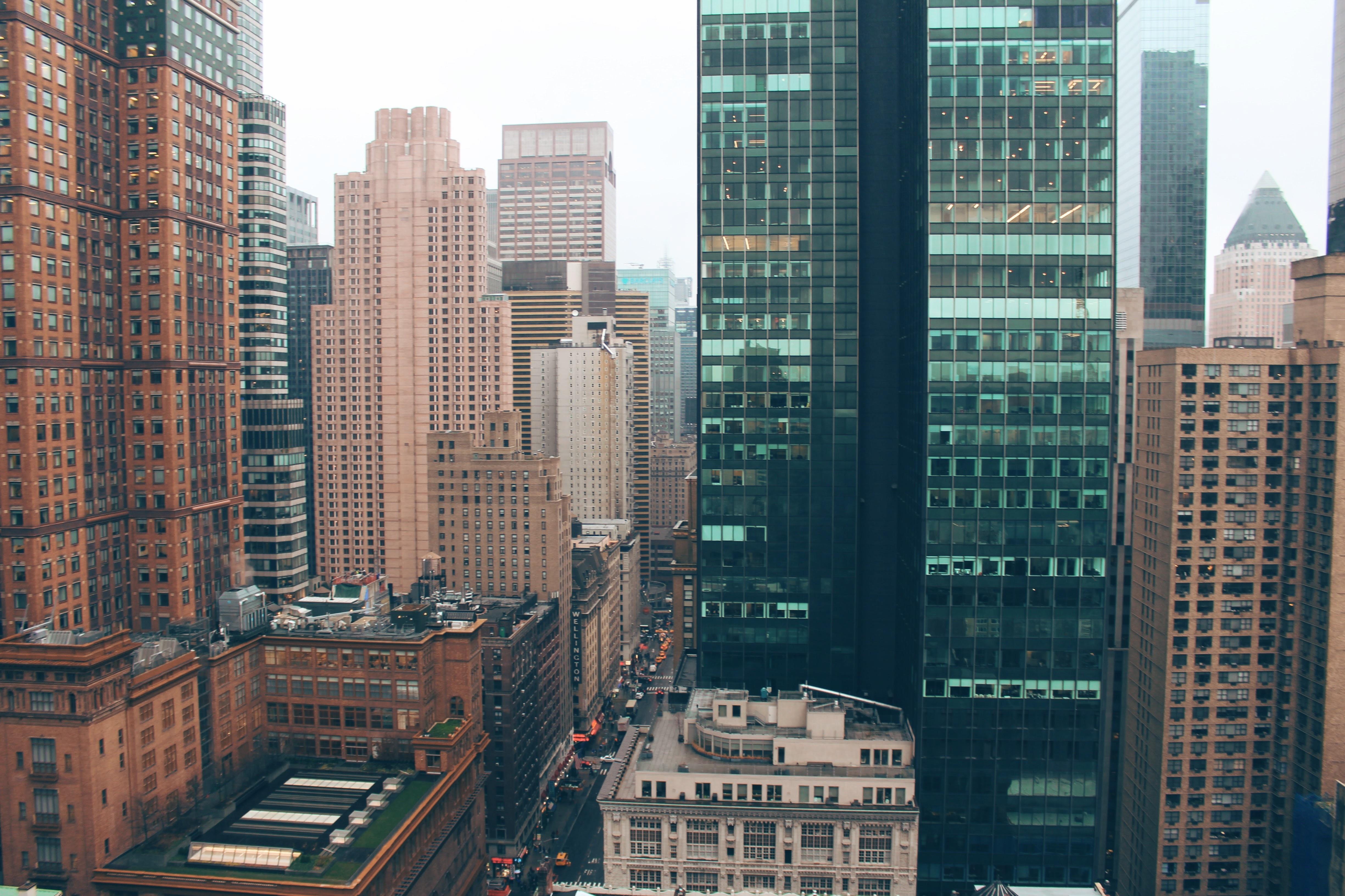 Обои горизонт, здание, new york, небоскребы. Города foto 15