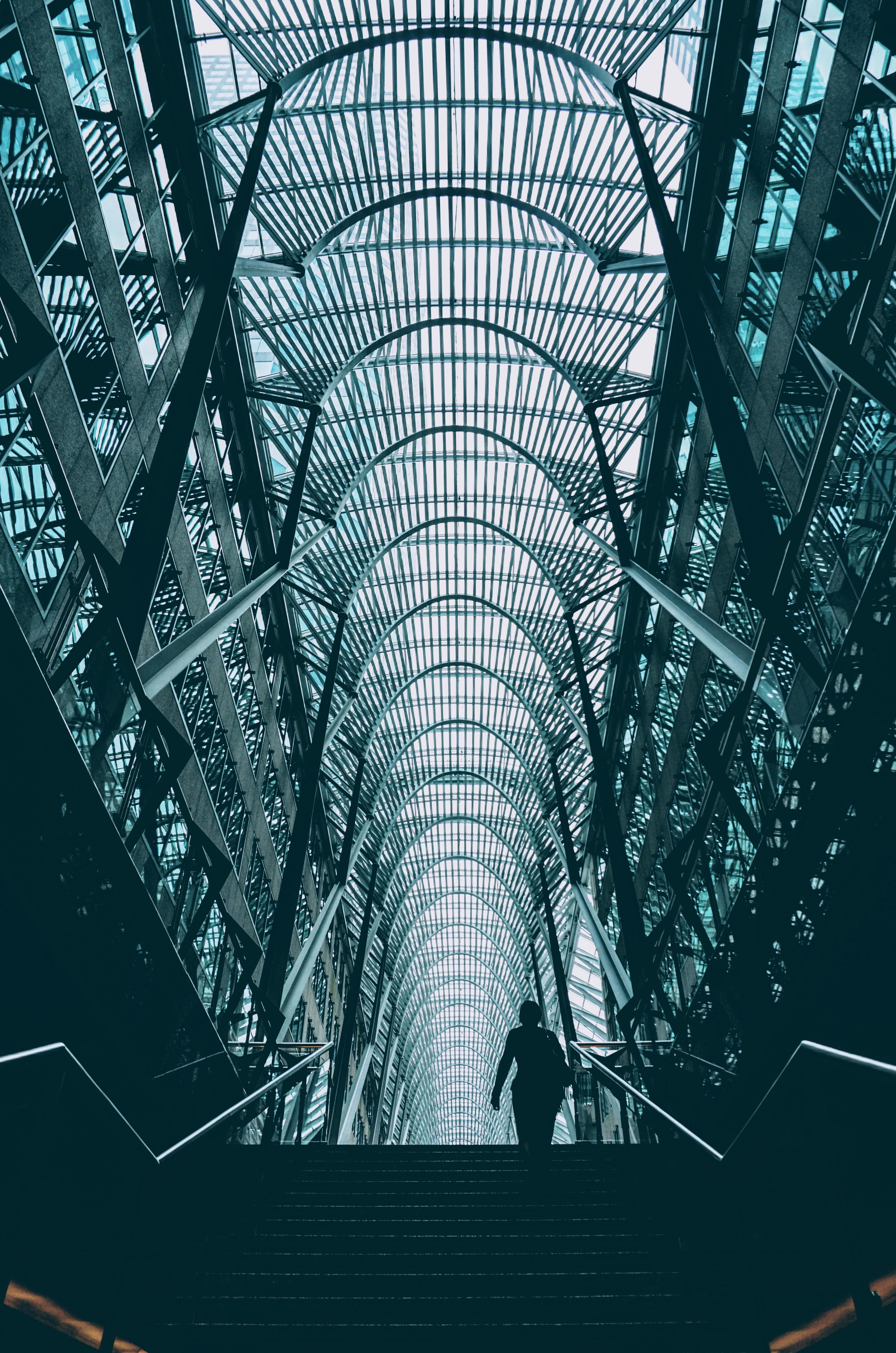 Gambar Arsitektur Pencakar Langit Garis Ilustrasi Desain