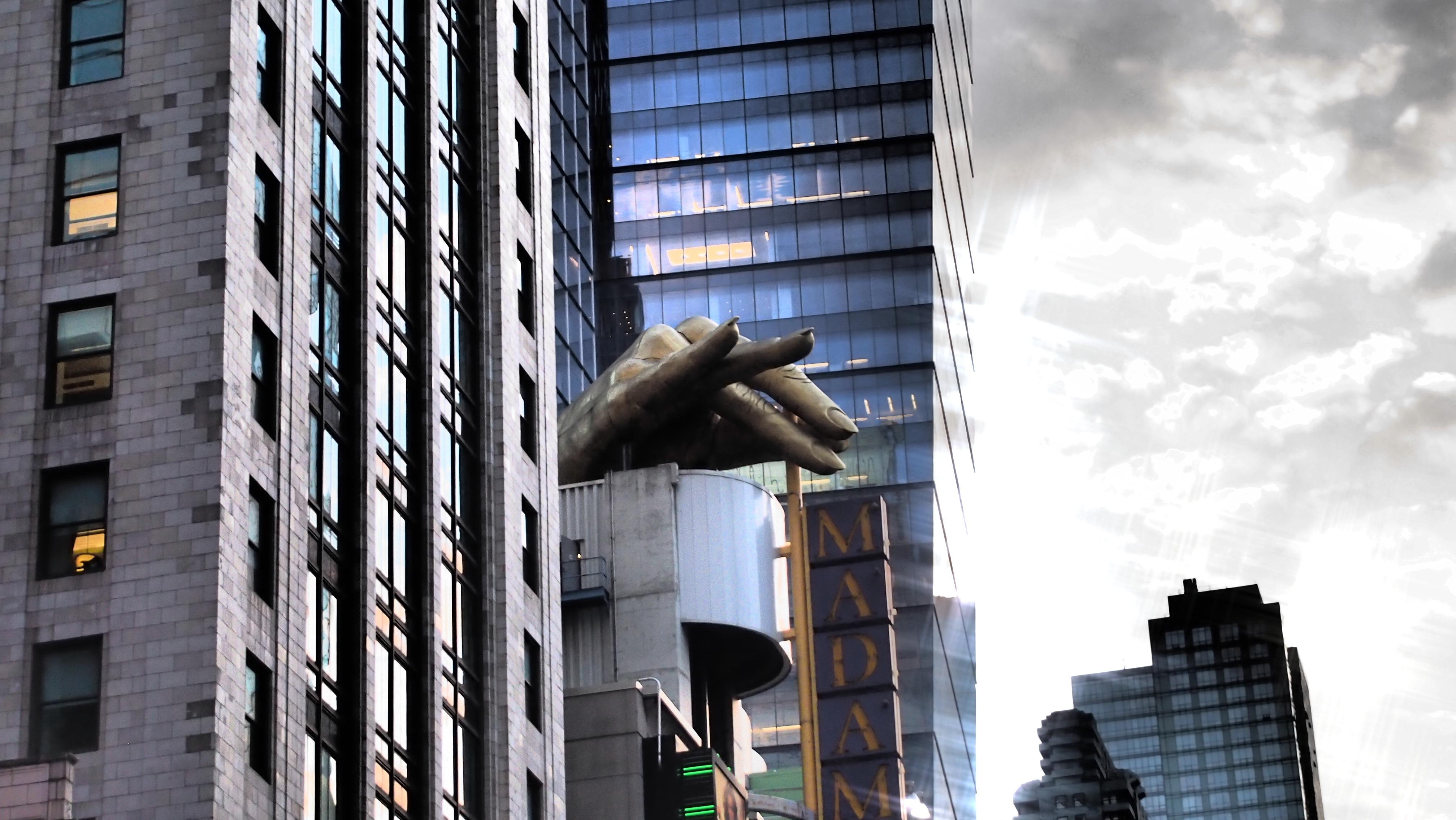 calle ciudad rascacielos nueva york pared manhattan paisaje urbano centro de la ciudad punto de