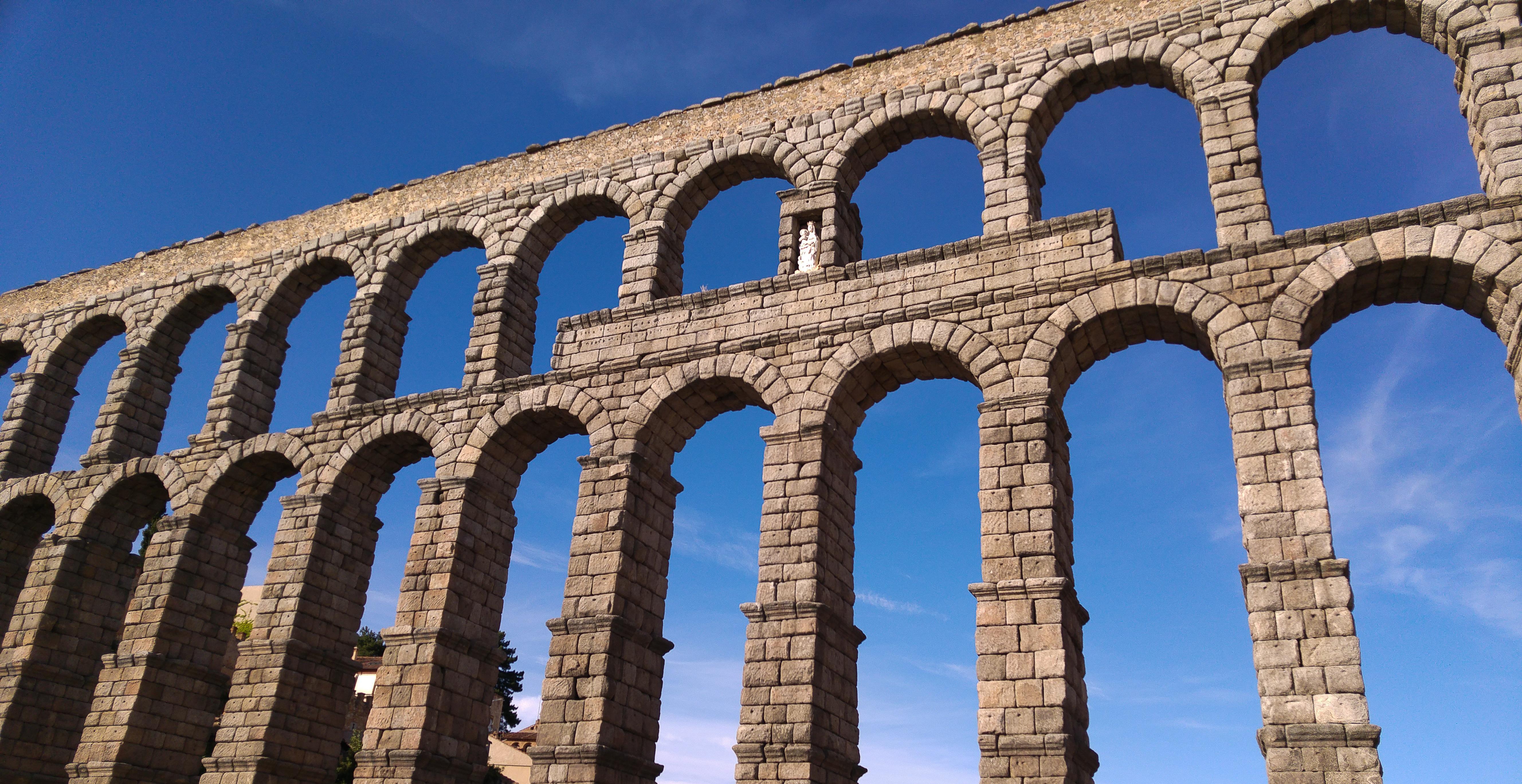 Gratis billeder bro bue milep l spanien segovia viadukt akv dukt buebro - Acueducto de segovia arquitectura ...