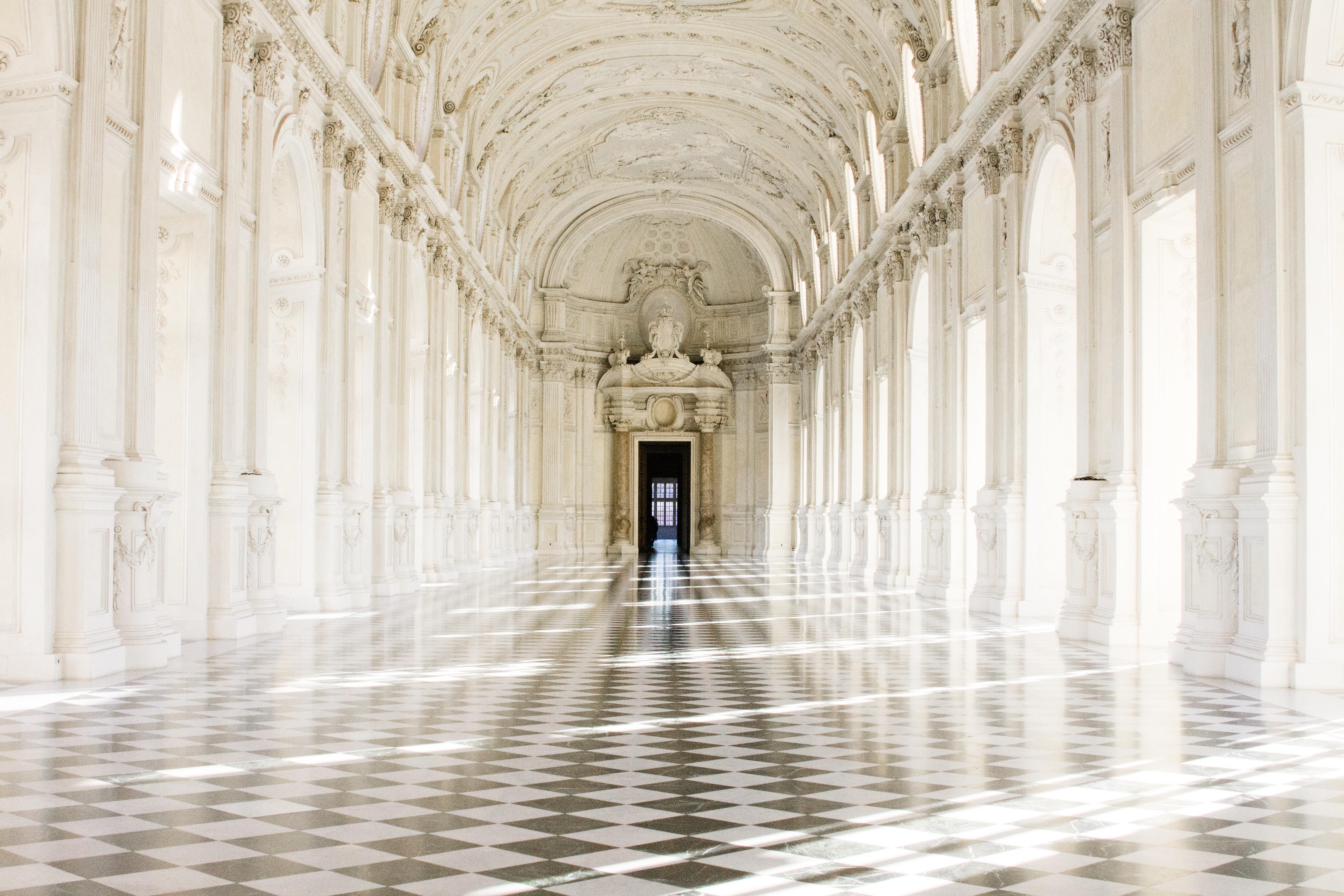 Architecture Structure Floor Building Palace Interior Design Aisle Symmetry  Piemonte Torino Royal Palace