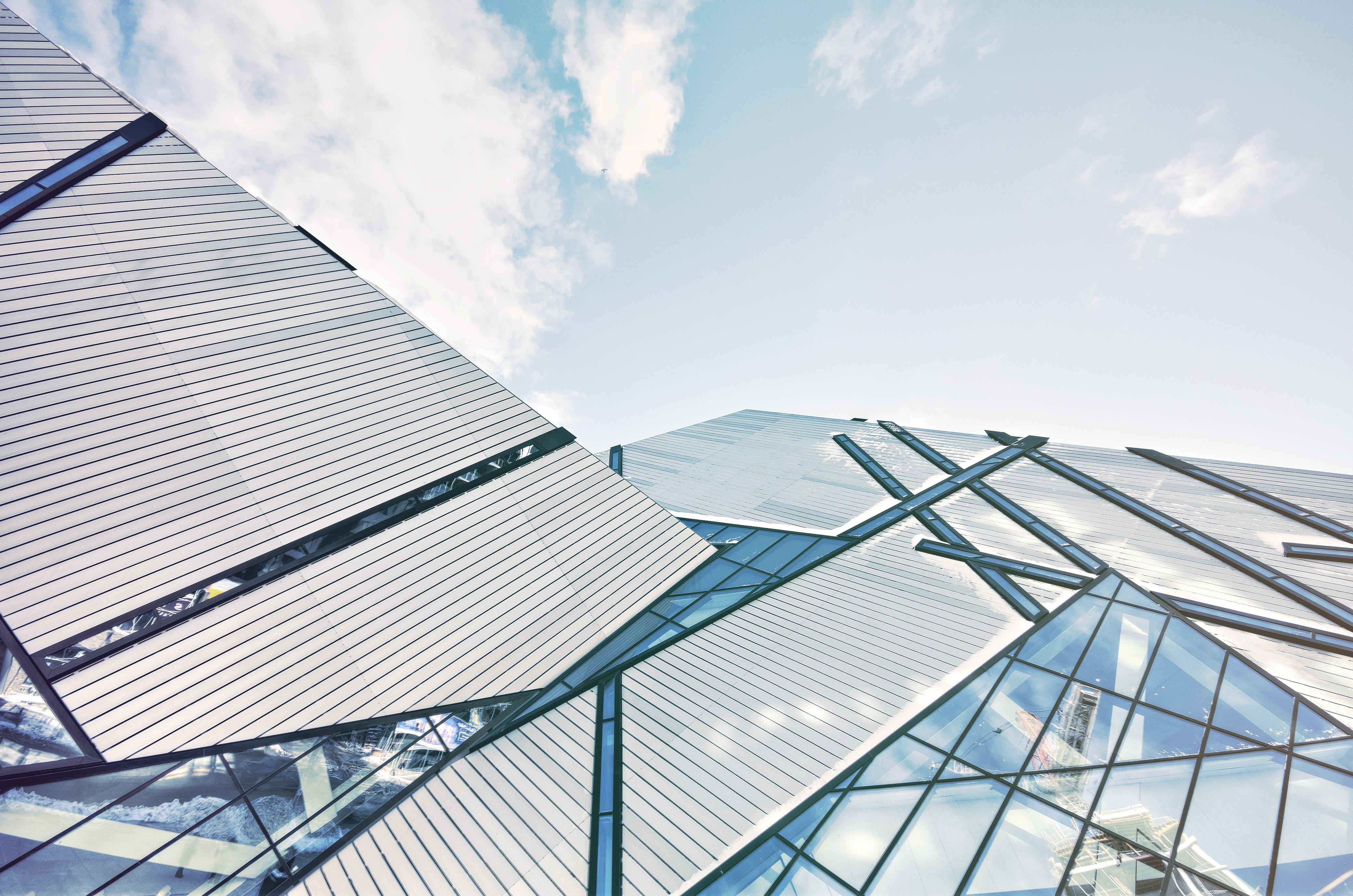 Banco de imagens arquitetura estrutura c u vidro for Contemporary roofing materials