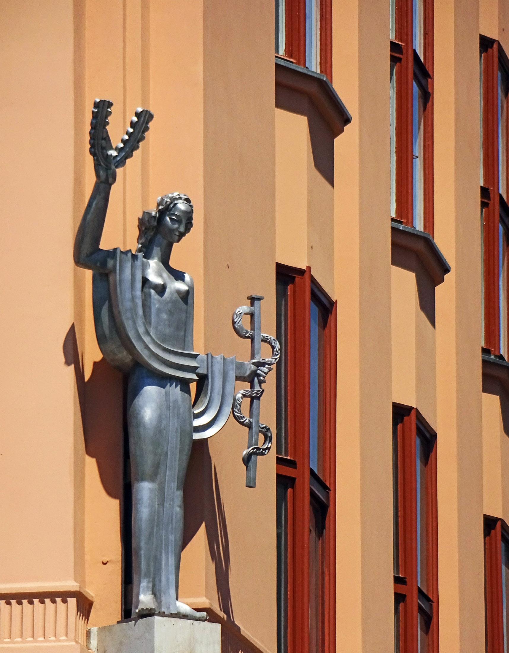 Bildet : arkitektur, struktur, tre, bygning, hunn, statue, art Deco ...