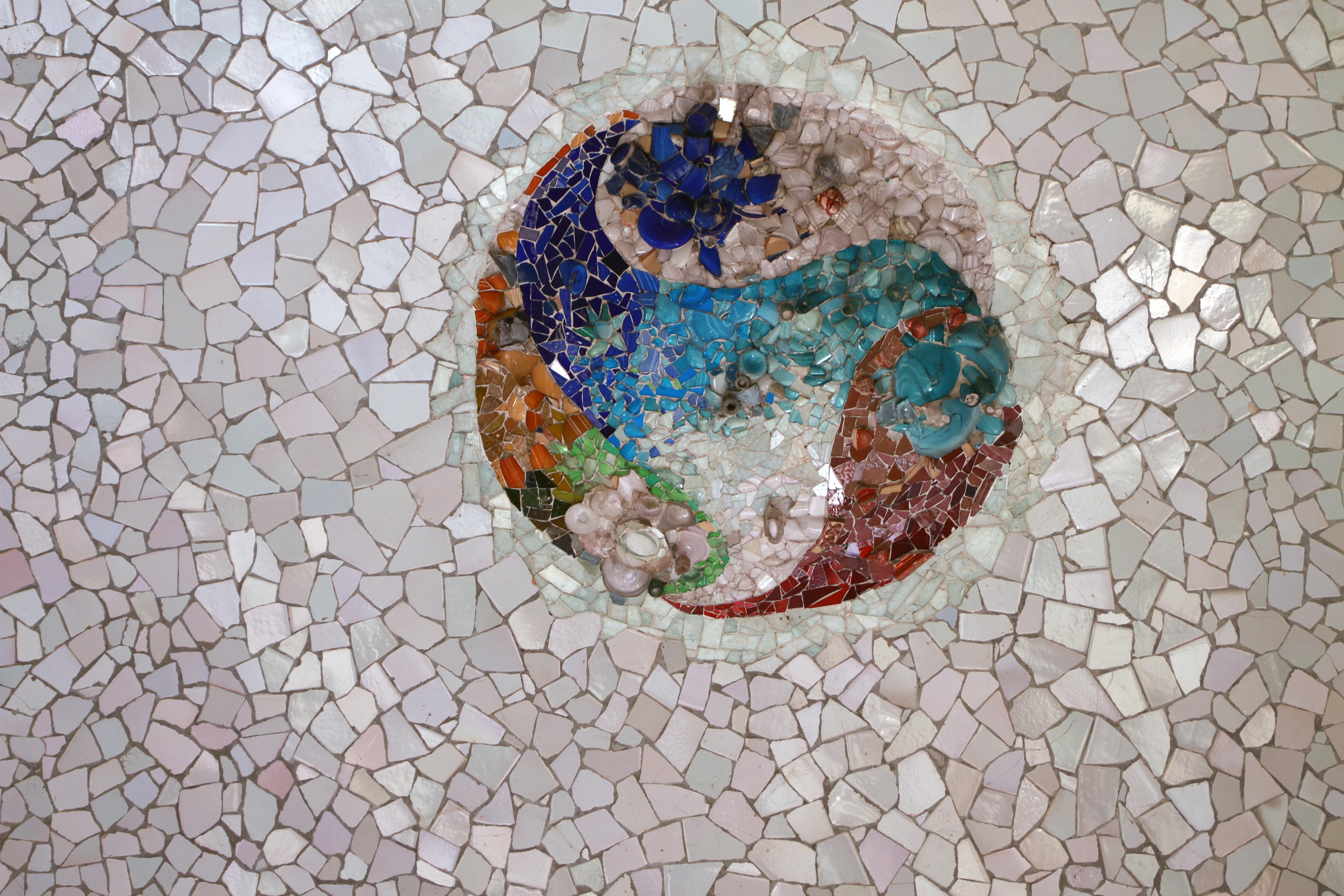 무료 이미지 : 건축물, 조직, 벽, 미술, 모자이크, 가우디, 모양 ...