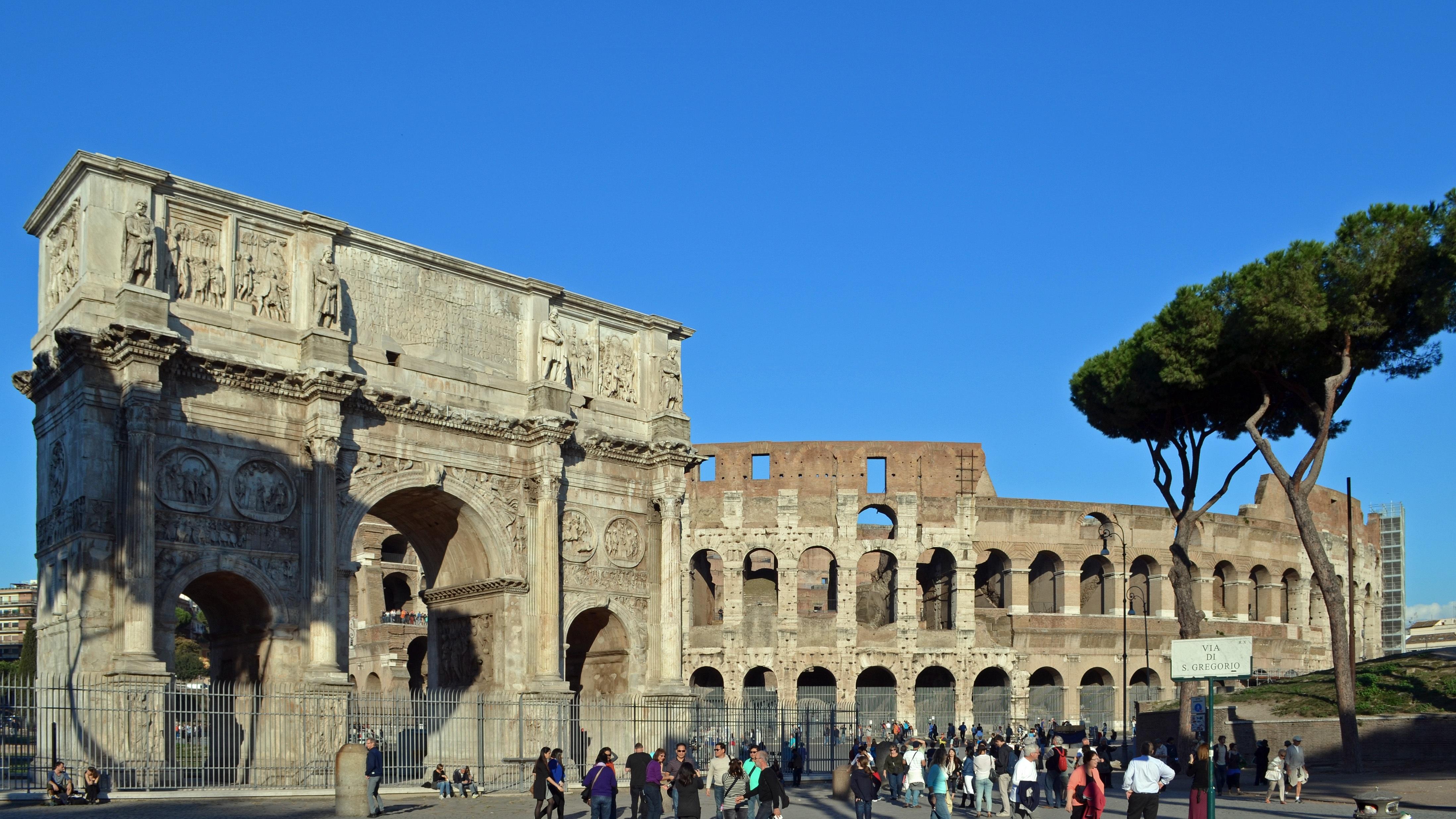Триумфальная арка Константина Колизей Рим бесплатно