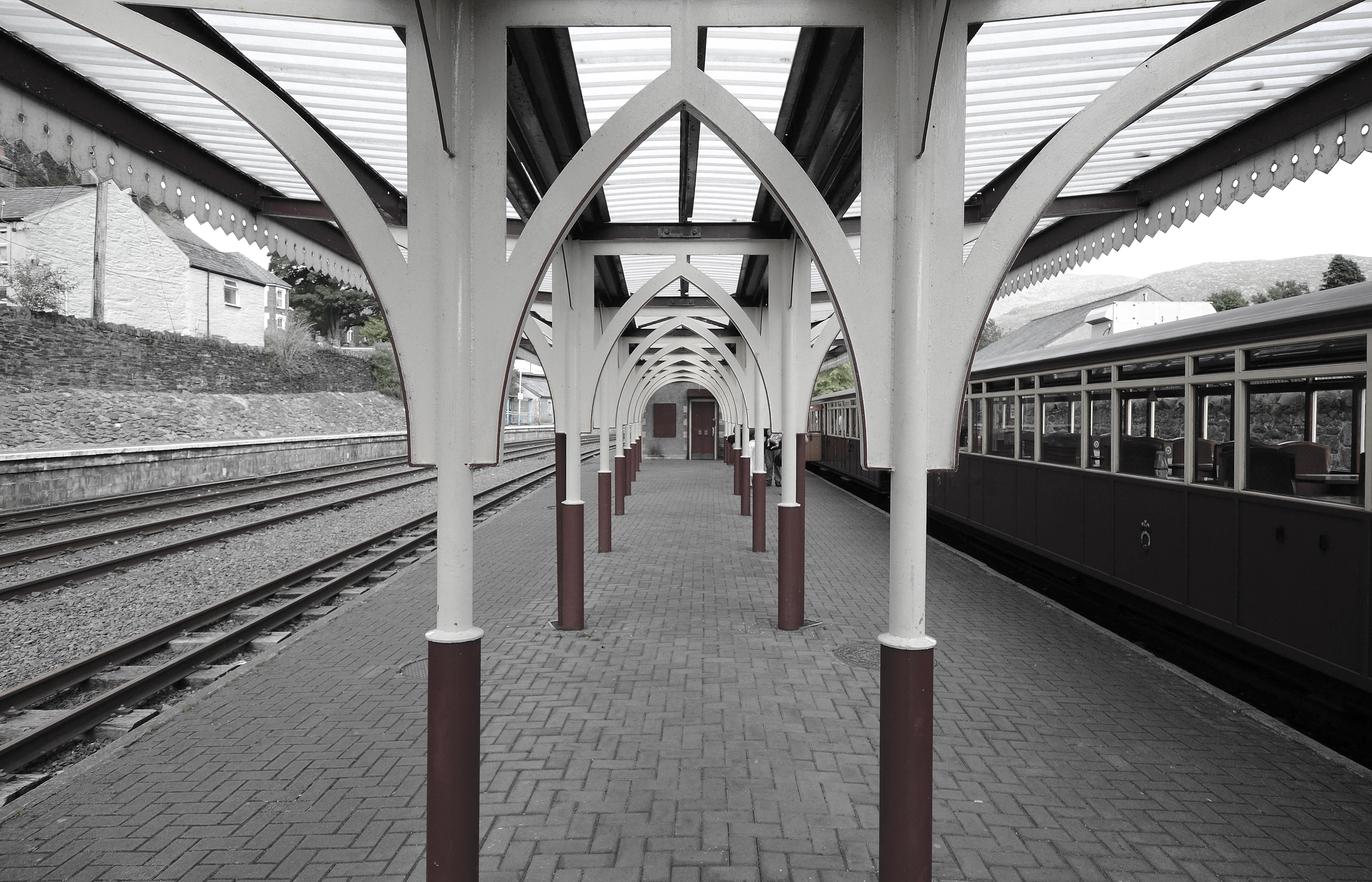 Architecture Track Railway Vintage Antique Retro Steam Rail Train Travel Subway Transportation Transport Vehicle Station