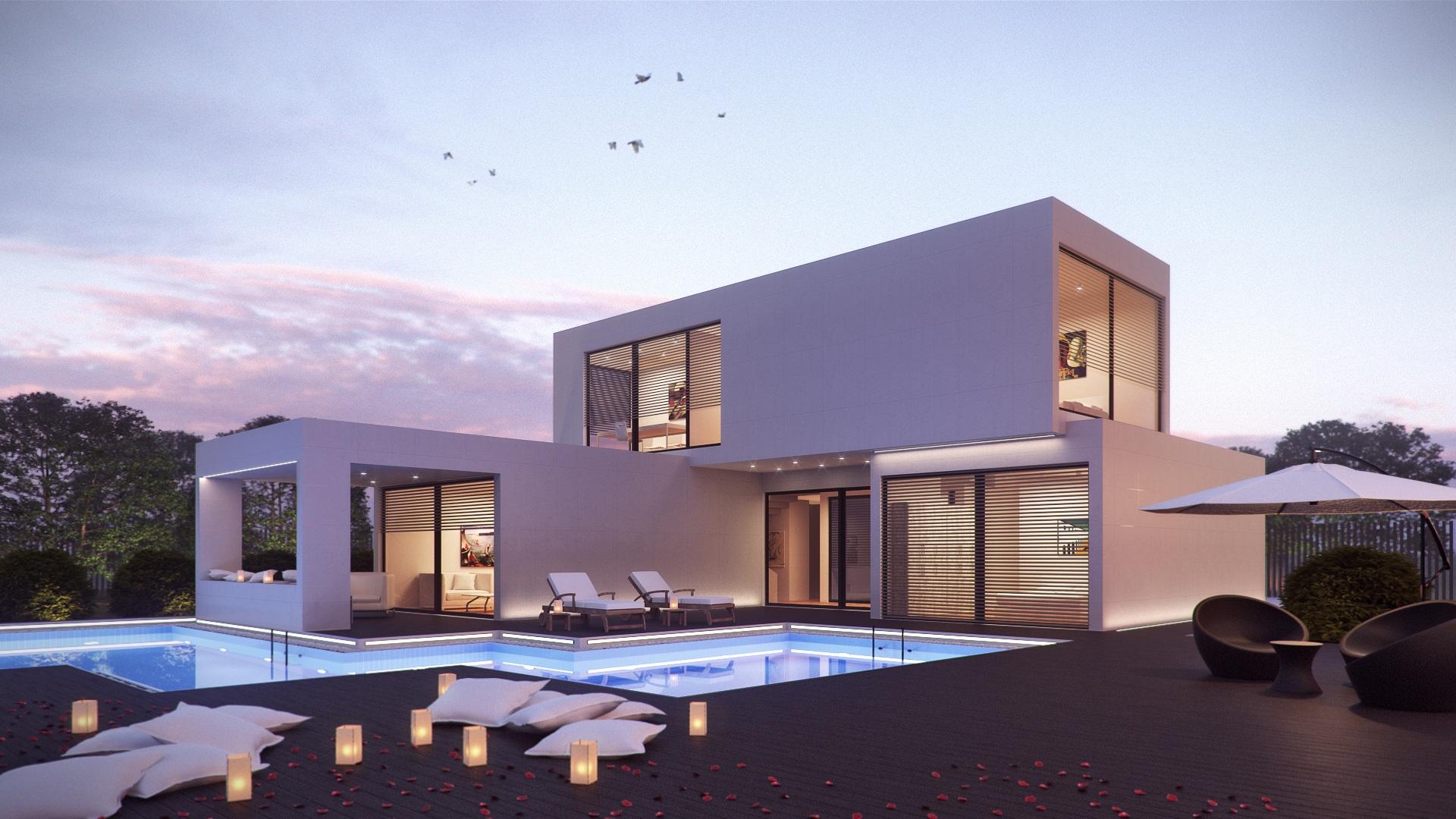 Beautiful ... 3d, Graphics, Hacienda, Condominium, Real Estate, Prefabricated House,  Holiday Home, 3dsmax, Crown Render, Modular Home, Modulate, External Design,  ...