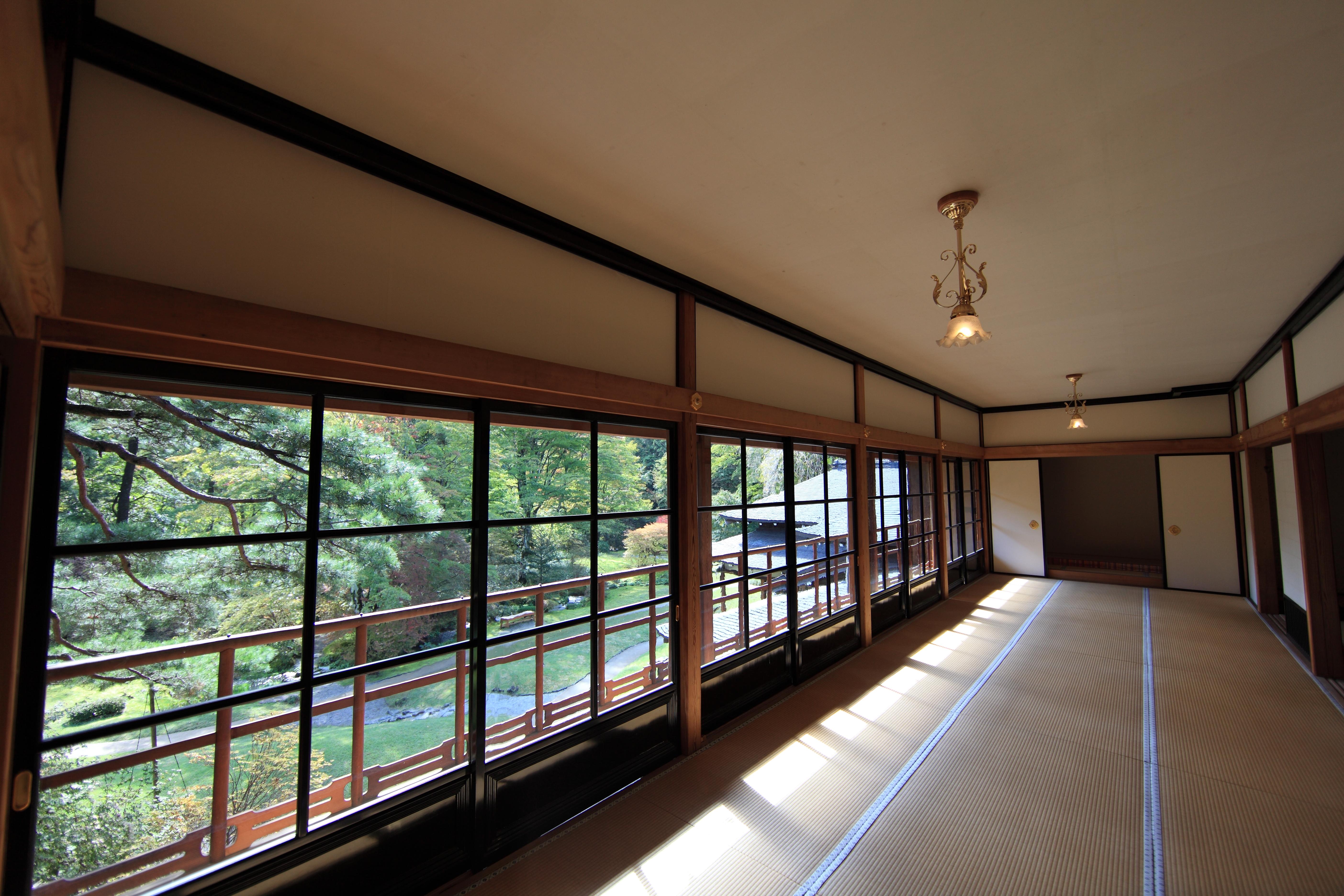 Gambar Arsitektur Vila Rumah Pedalaman Jendela Plafon