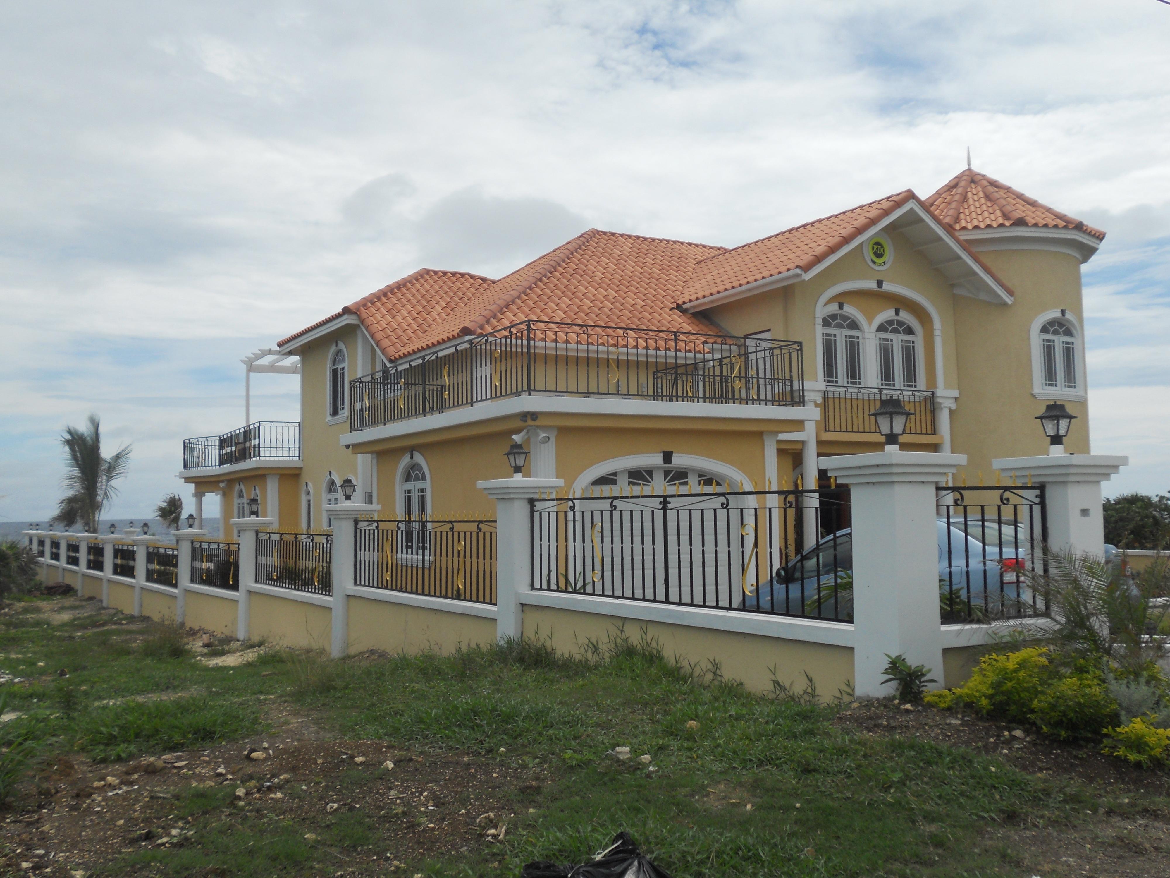 Architecture villa mansion house roof building home live suburb cottage facade property modern farmhouse jamaica estate