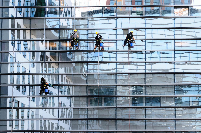 Kostenlose foto die architektur glas dach wolkenkratzer mauer fassade blau ger st - Fenster putzen zeitung ...