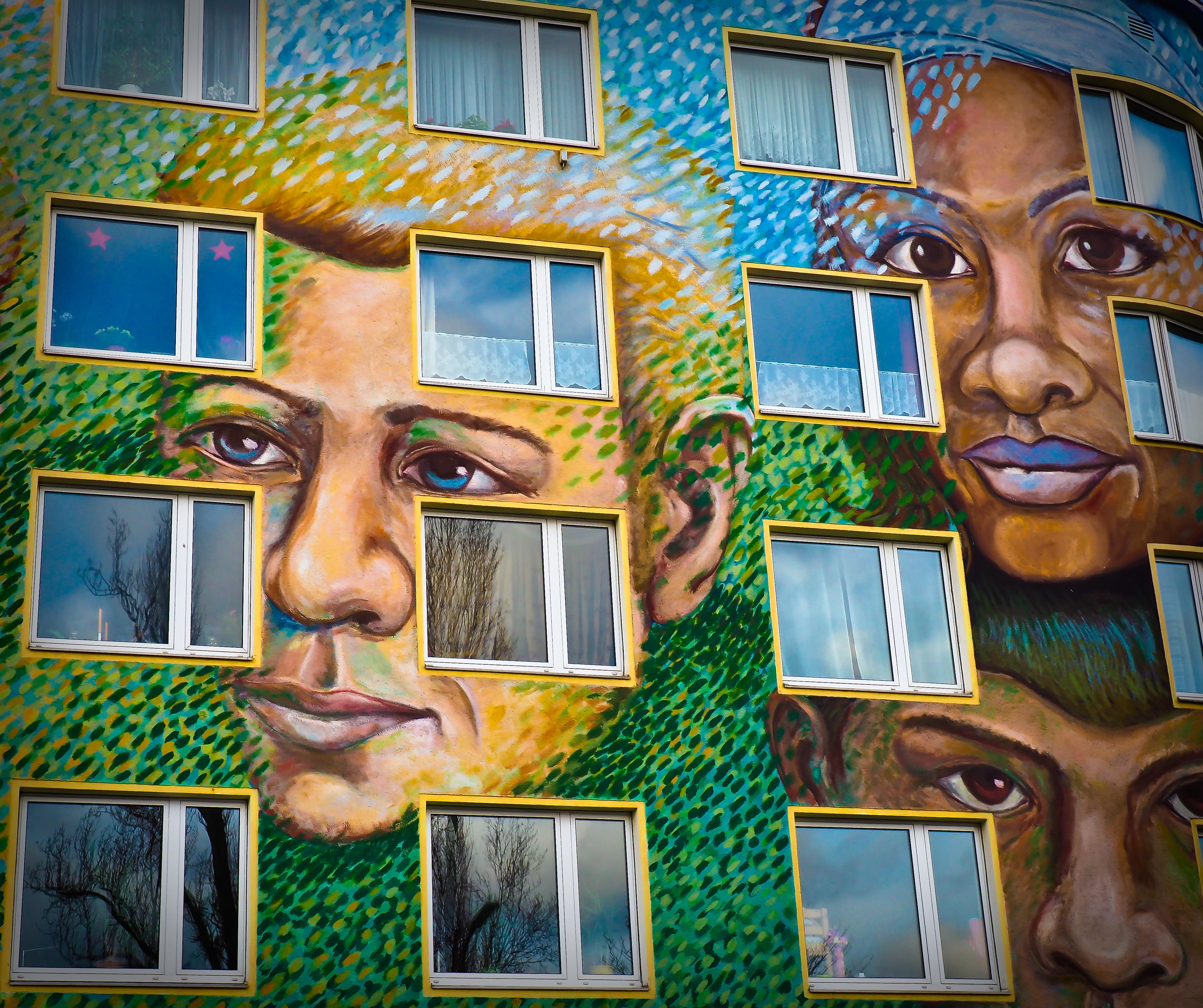 Graffiti Düsseldorf free images architecture window wall color facade graffiti