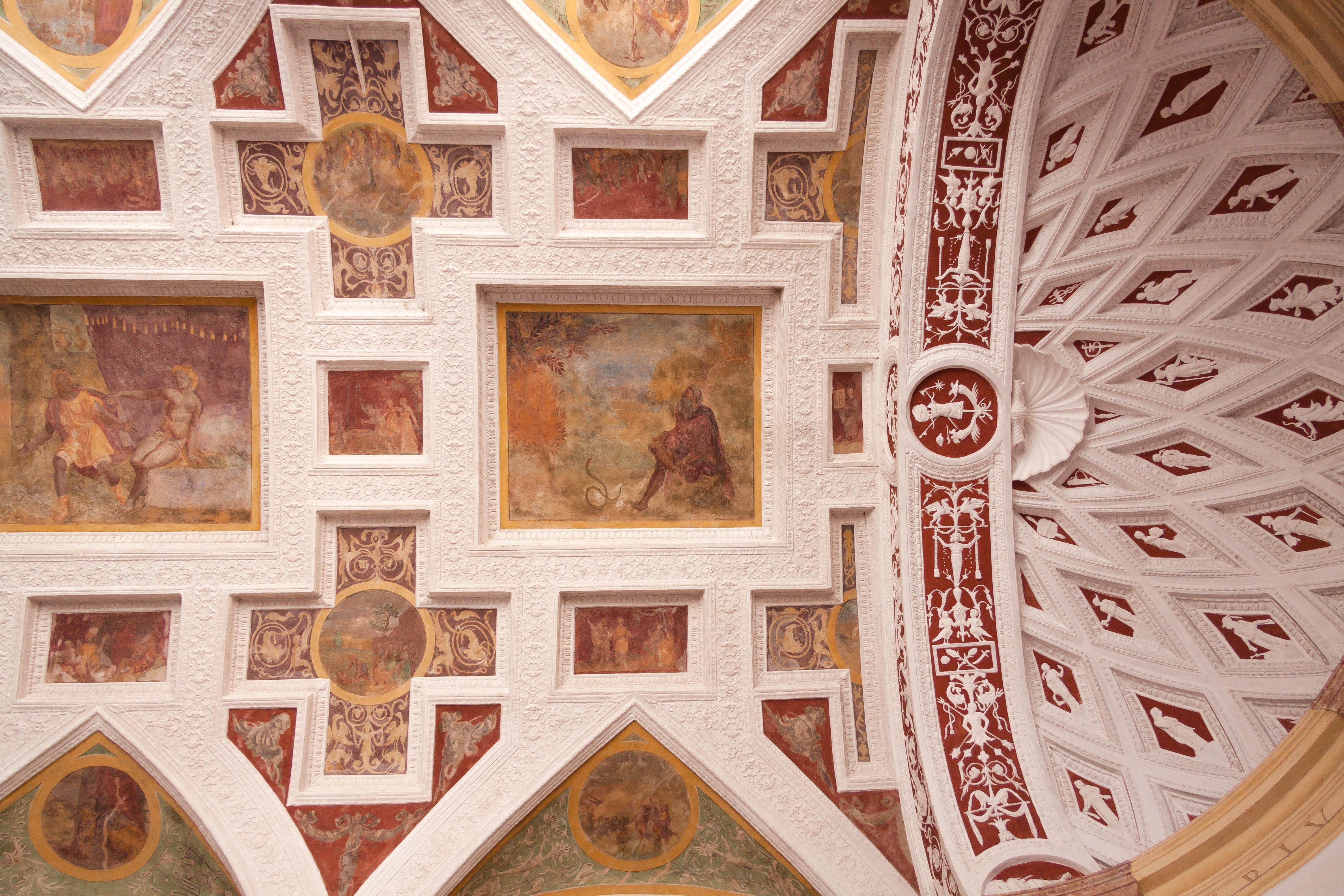 Window Building Wall Facade Residence Interior Design Art Courtyard Temple Picture Frame Bavaria Renaissance Fresco Carving Duke Arcades