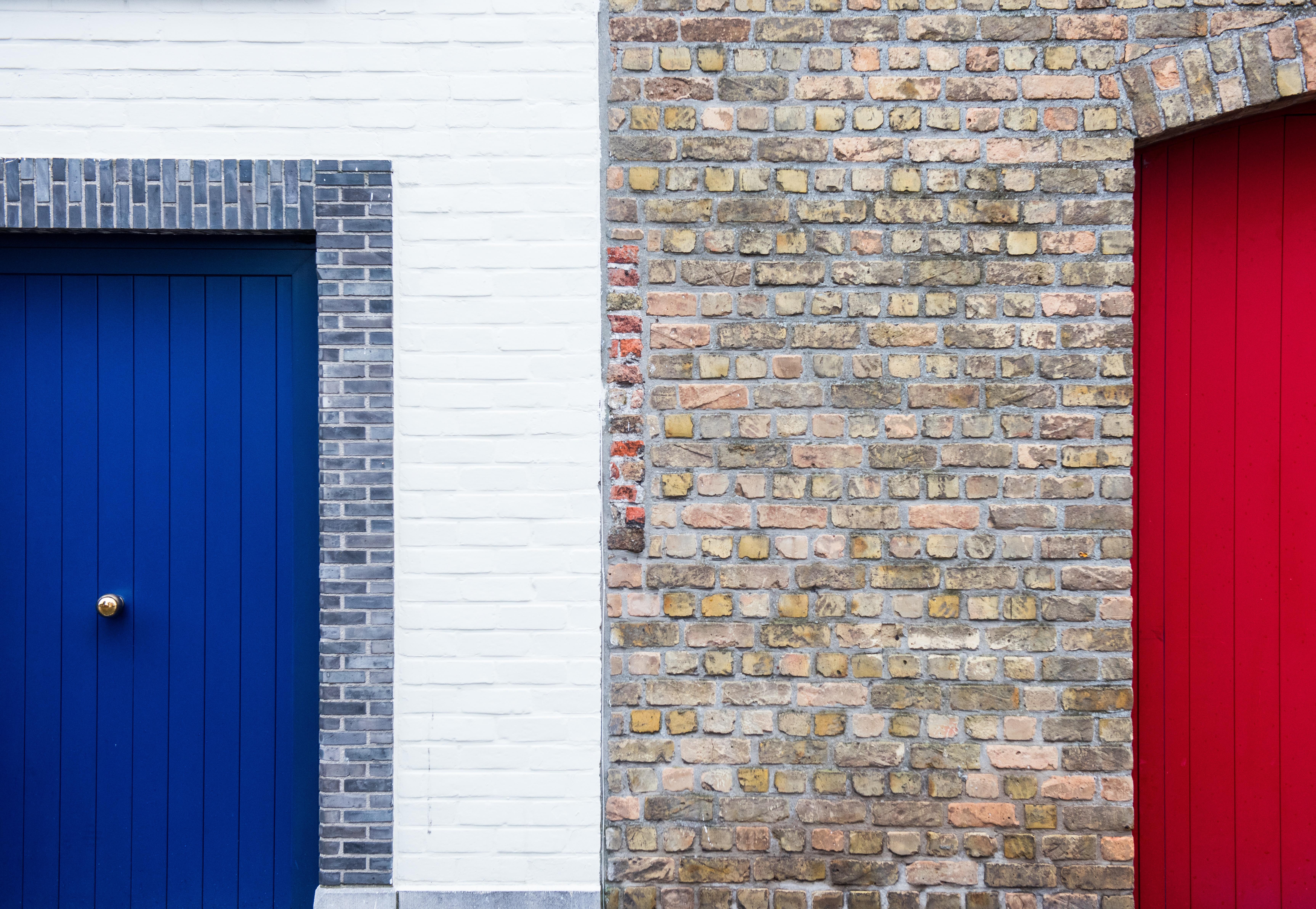 Architecture Wood House Window Wall Facade Blue Brick Door Material Interior  Design Brickwork Siding Window Covering