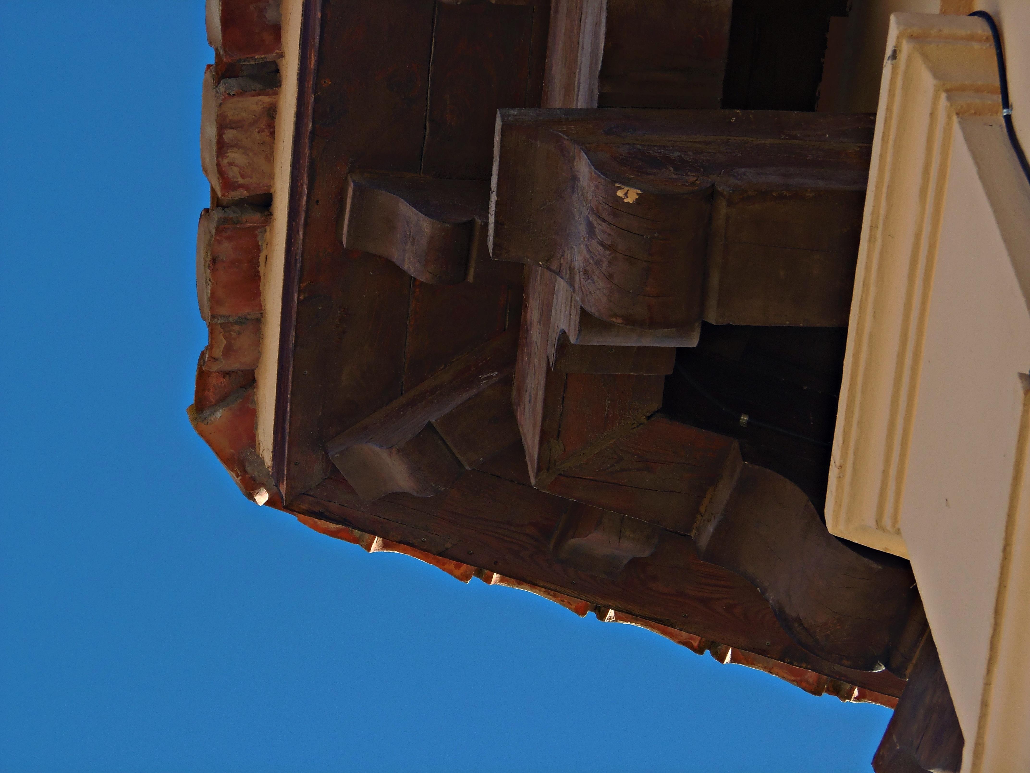 Fotos Gratis Arquitectura Madera Techo Antiguo R Stico Azul  # Muebles Mudejar