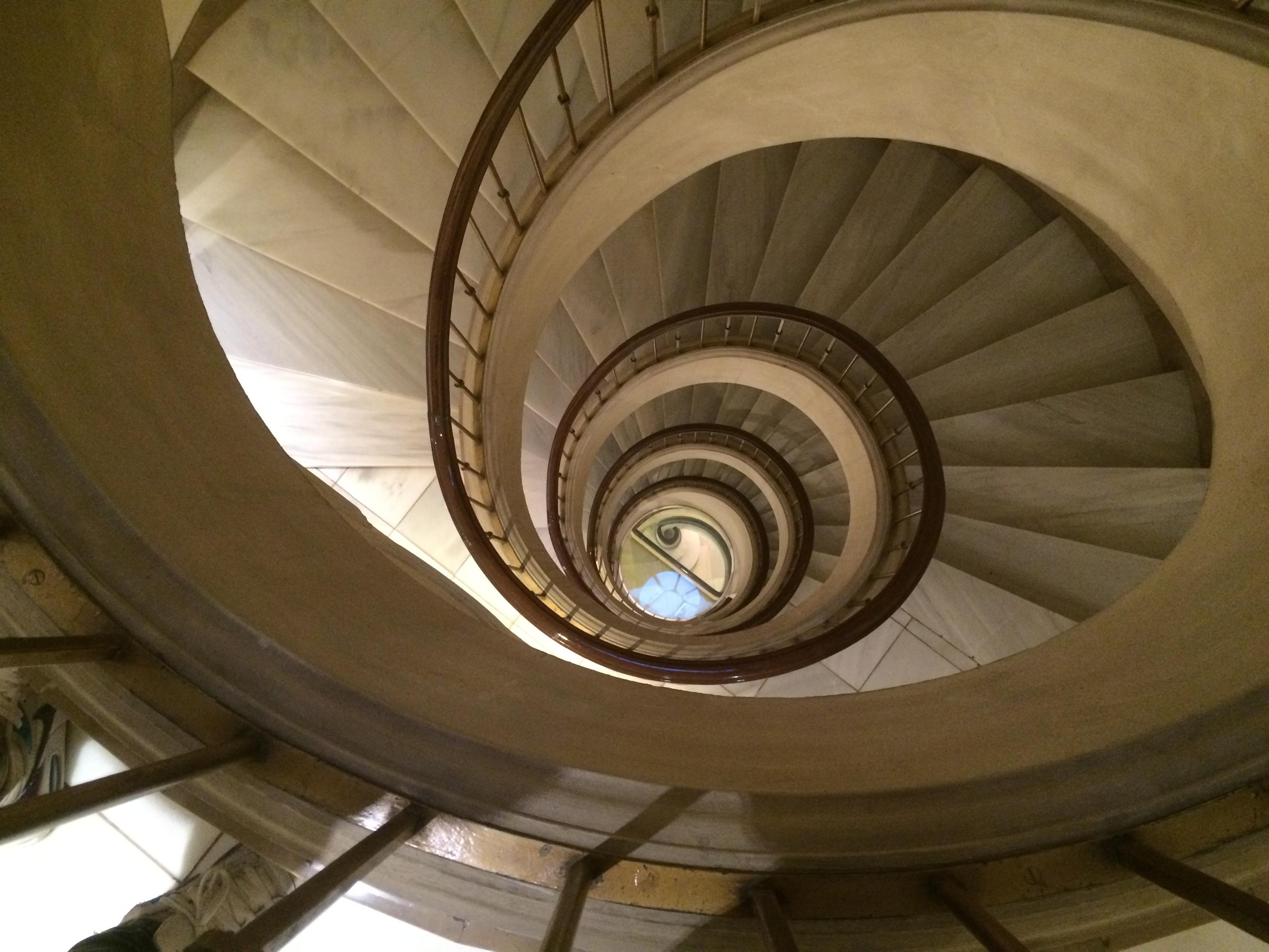 Fotos gratis arquitectura madera rueda espiral - Escalera en espiral ...