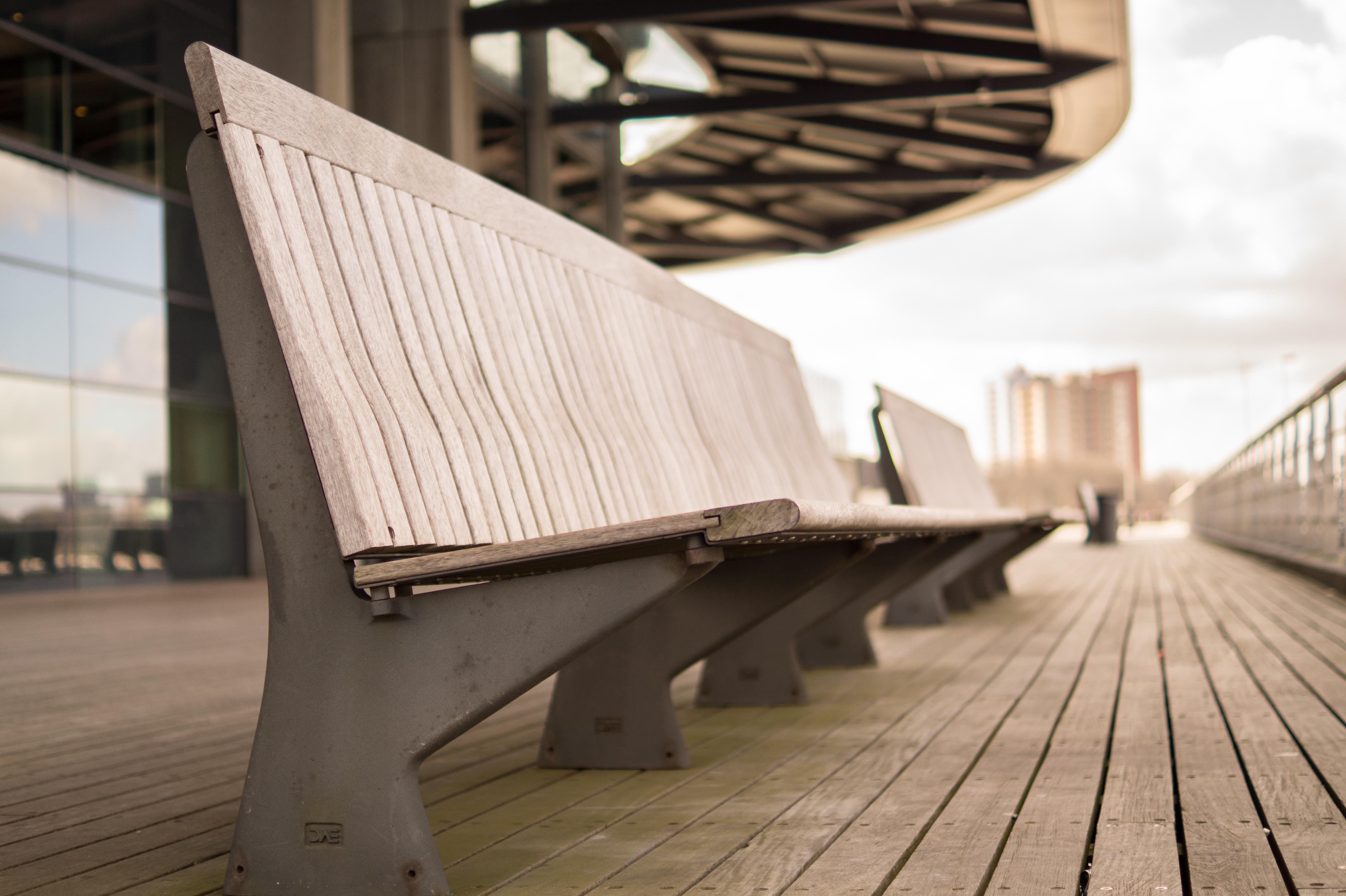 Fotos gratis : arquitectura, madera, blanco, banco, ver, perspectiva ...