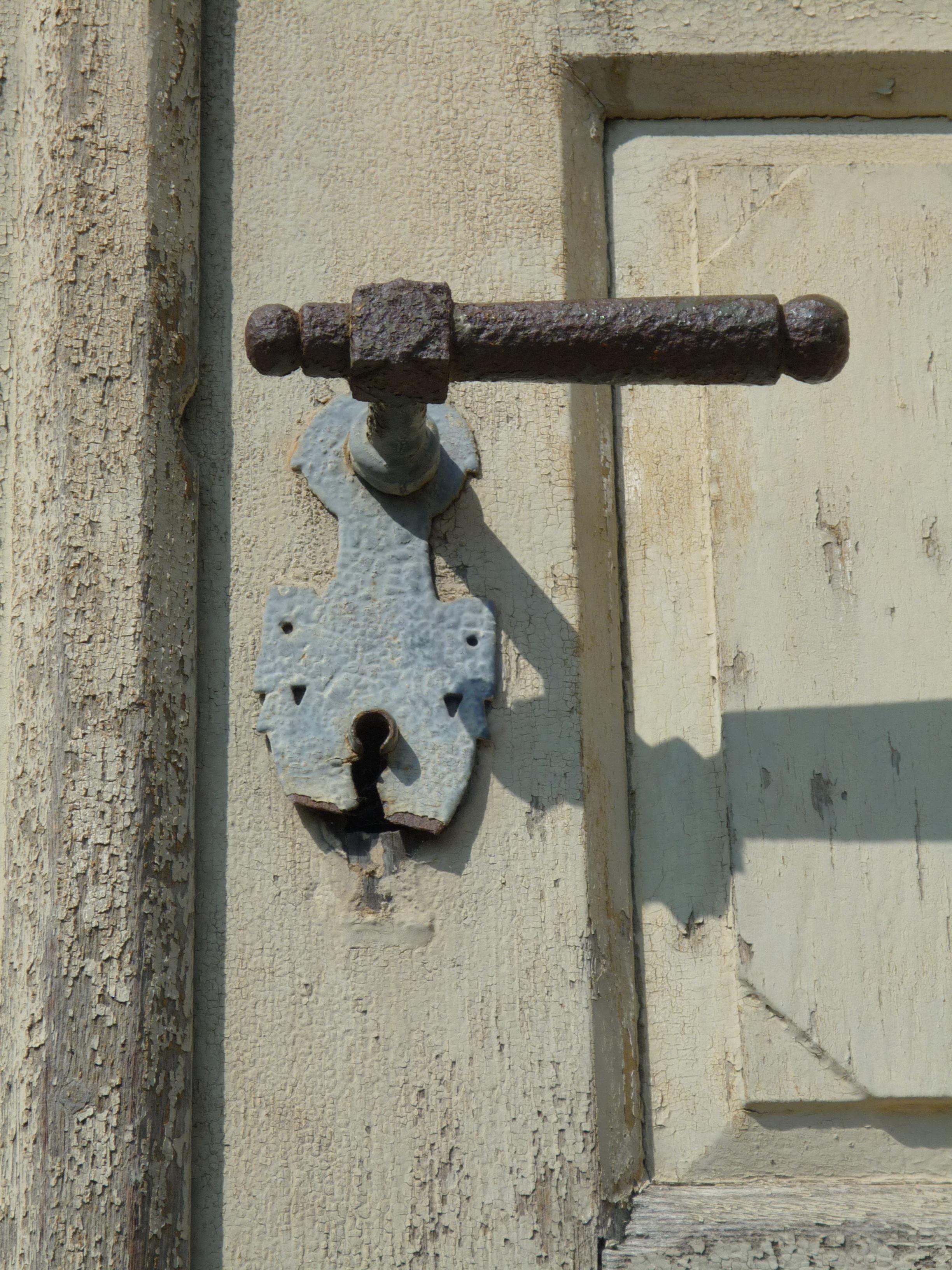 Architecture Wood Window Number Wall Art Jack Iron Input House Entrance Old  Door Portal Door Lock