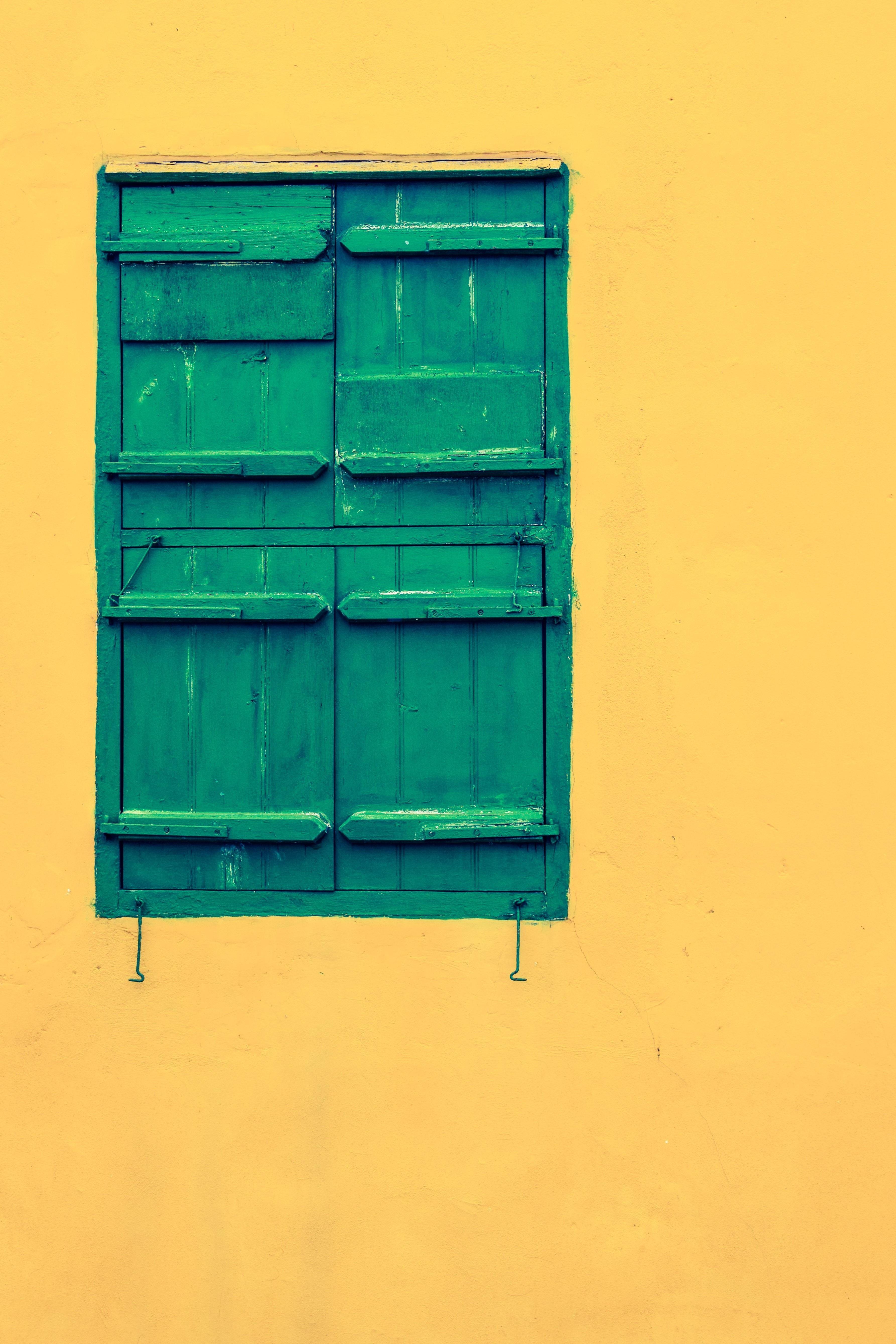 Images Gratuites Architecture Mur Ligne Vert Couleur  # Meuble Jaune