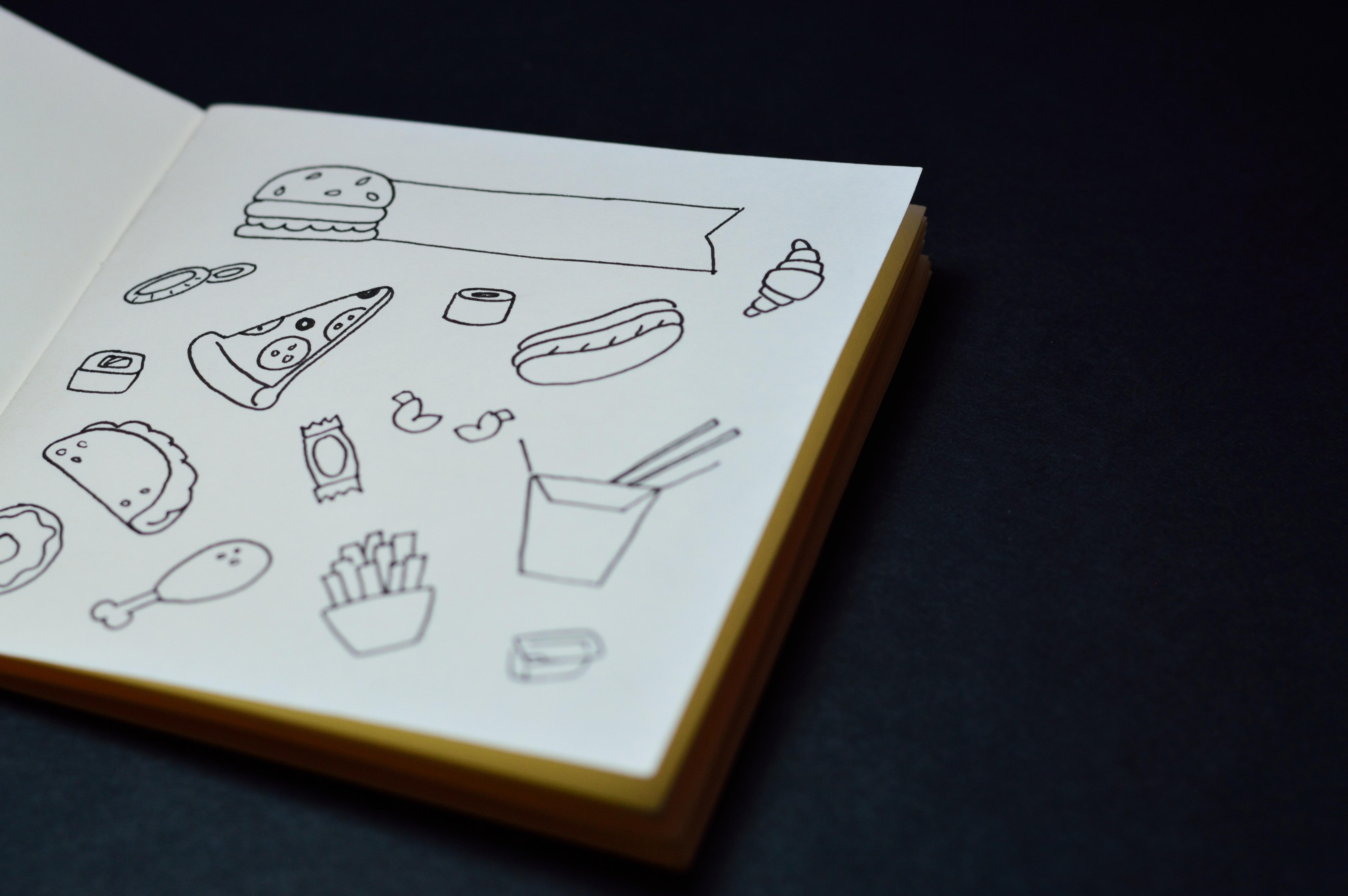 Gambar Artistik Karya Seni Latar Belakang Book Burger