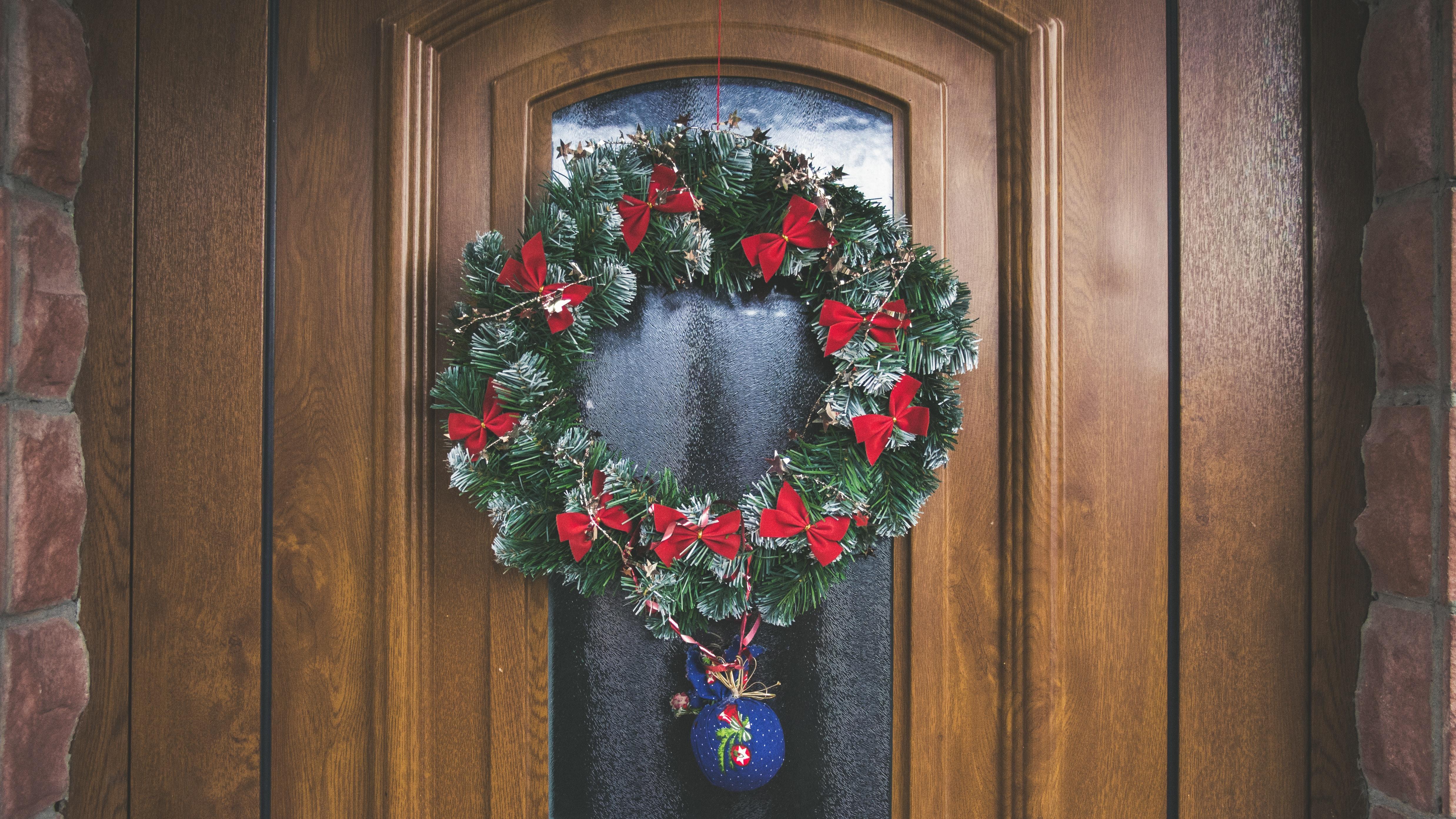 Decorazioni Natalizie Per Portoni.Immagini Belle Arte Natale Decorazione Natalizia Design Porta