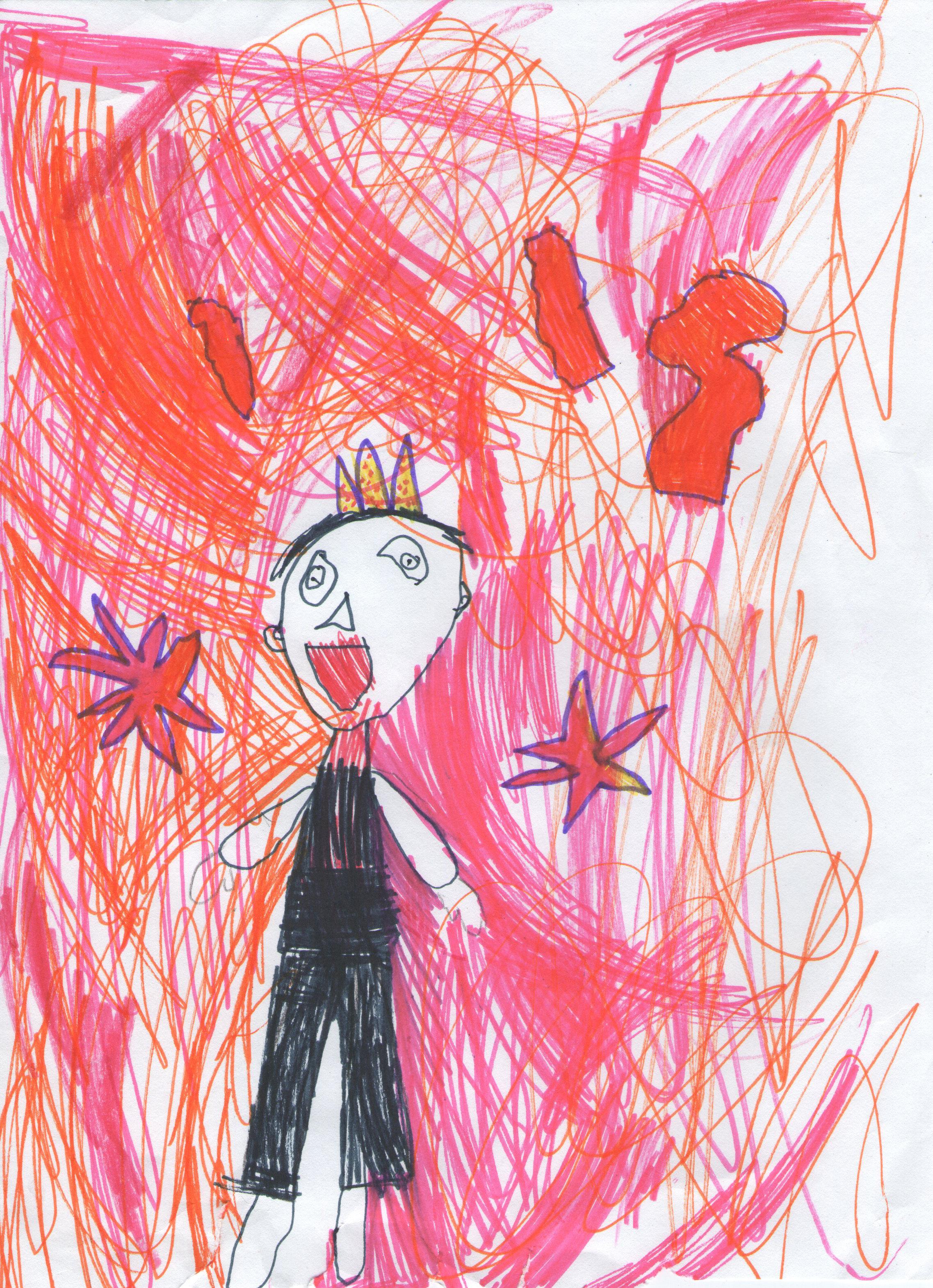 Gambar Merah Jeruk Seni Anak Gambar Kartun Ilustrasi