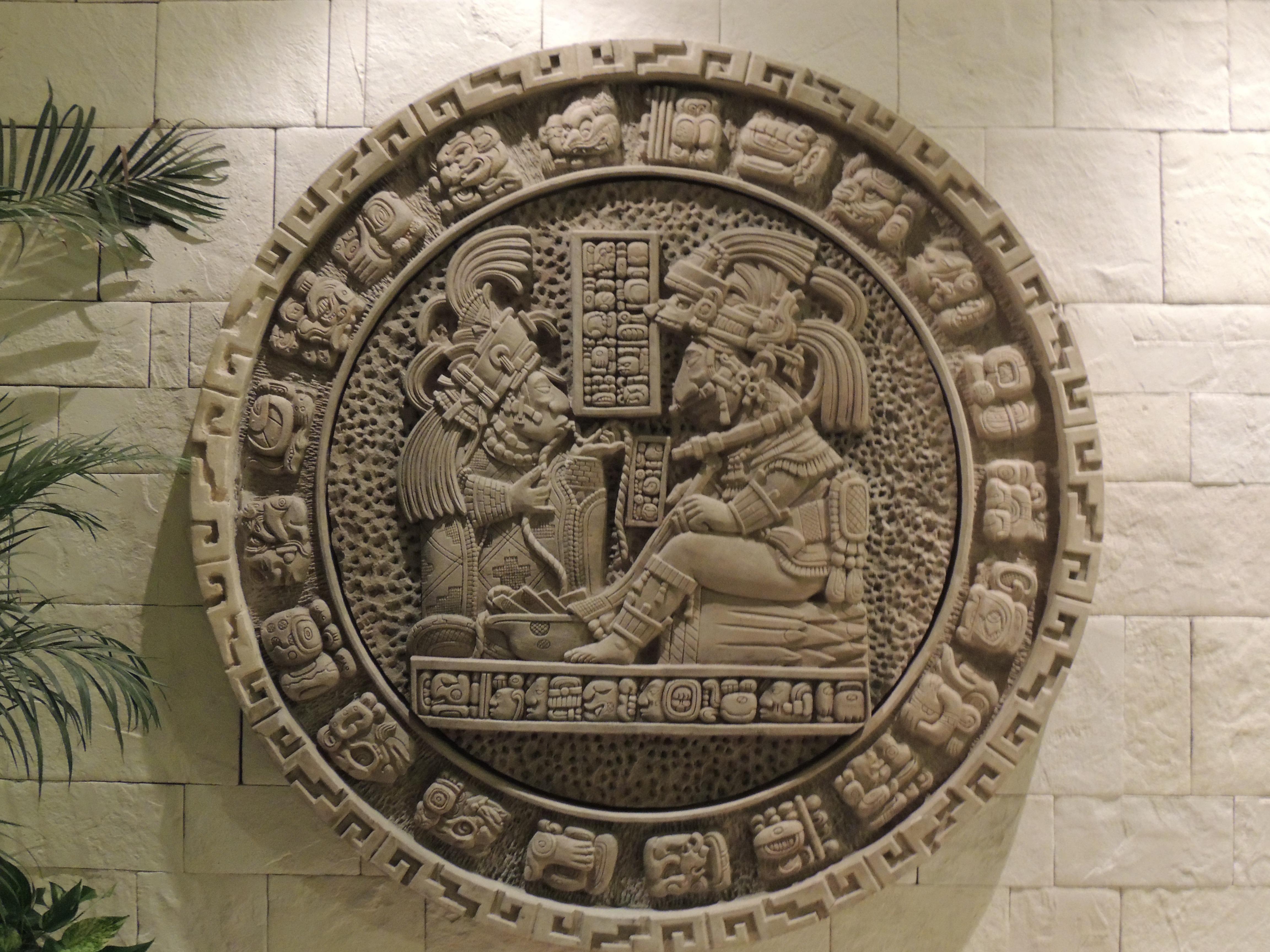 Calendrier Maya Dessin.Images Gratuites Art Mexique Calendrier Le Soulagement