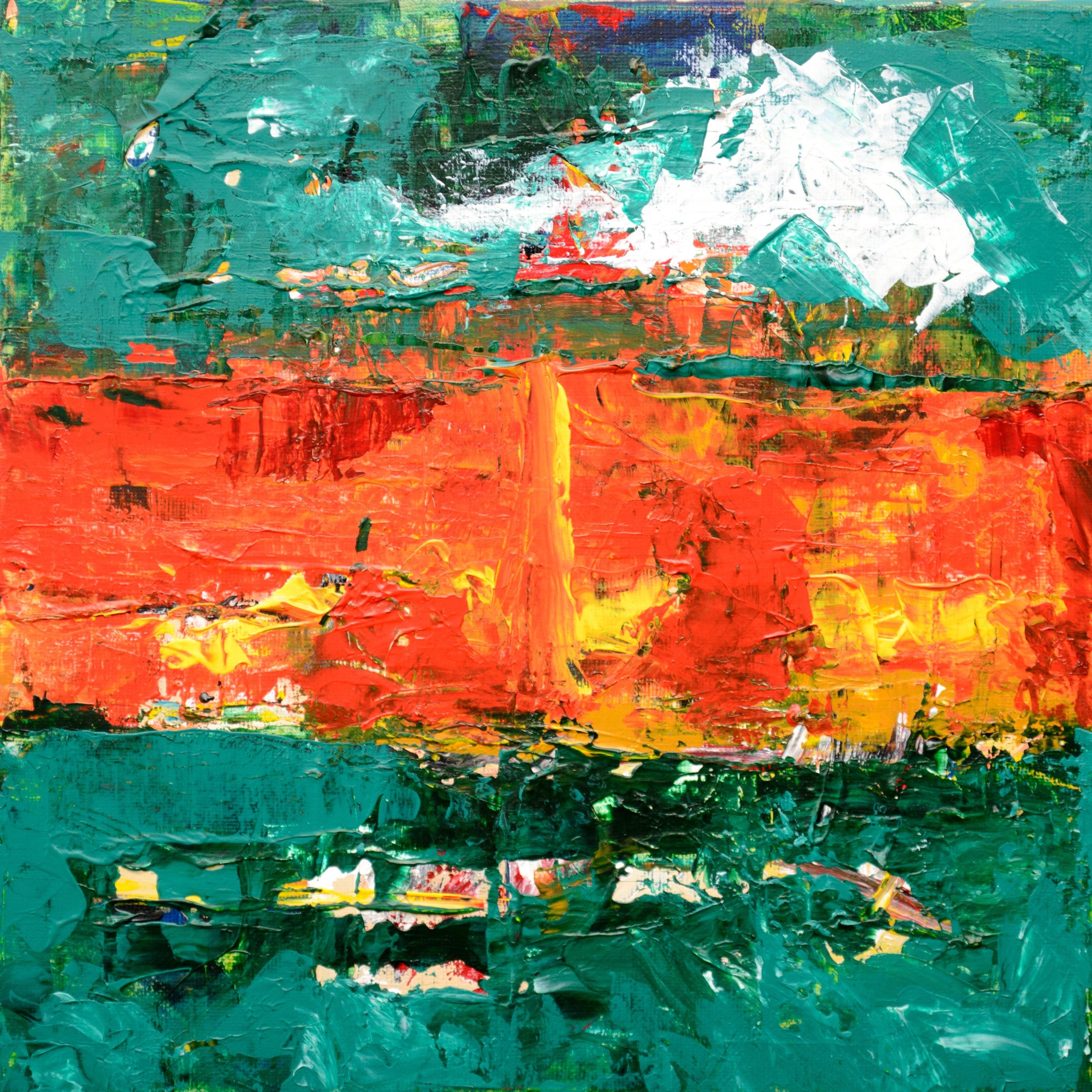 Uitgelezene Gratis Afbeeldingen : schilderij, groen, moderne kunst, acrylverf UP-56