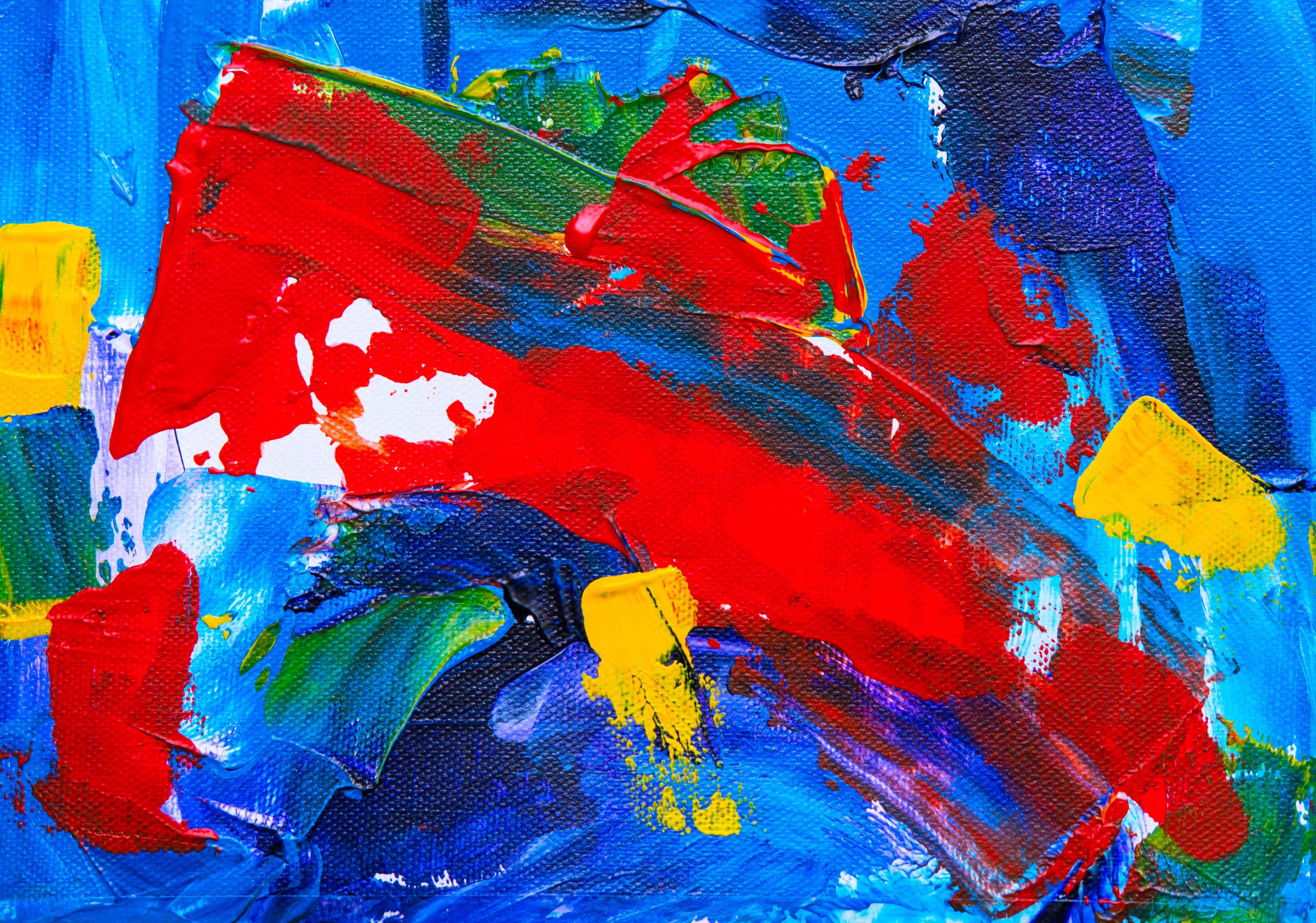 Betere Gratis Afbeeldingen : schilderij, moderne kunst, acrylverf, kind TT-84