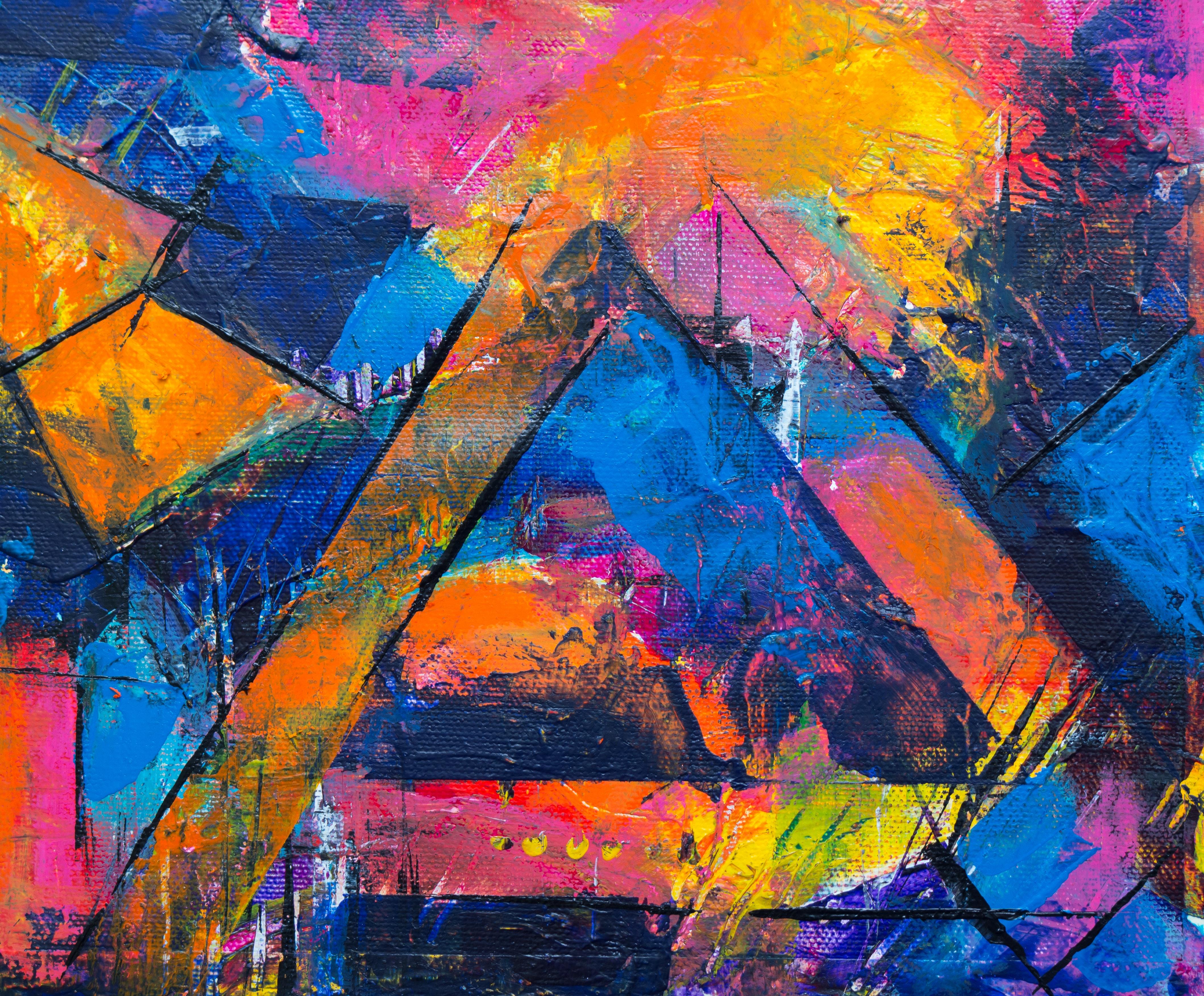 Super Gratis Afbeeldingen : schilderij, moderne kunst, acrylverf, hemel IM-99