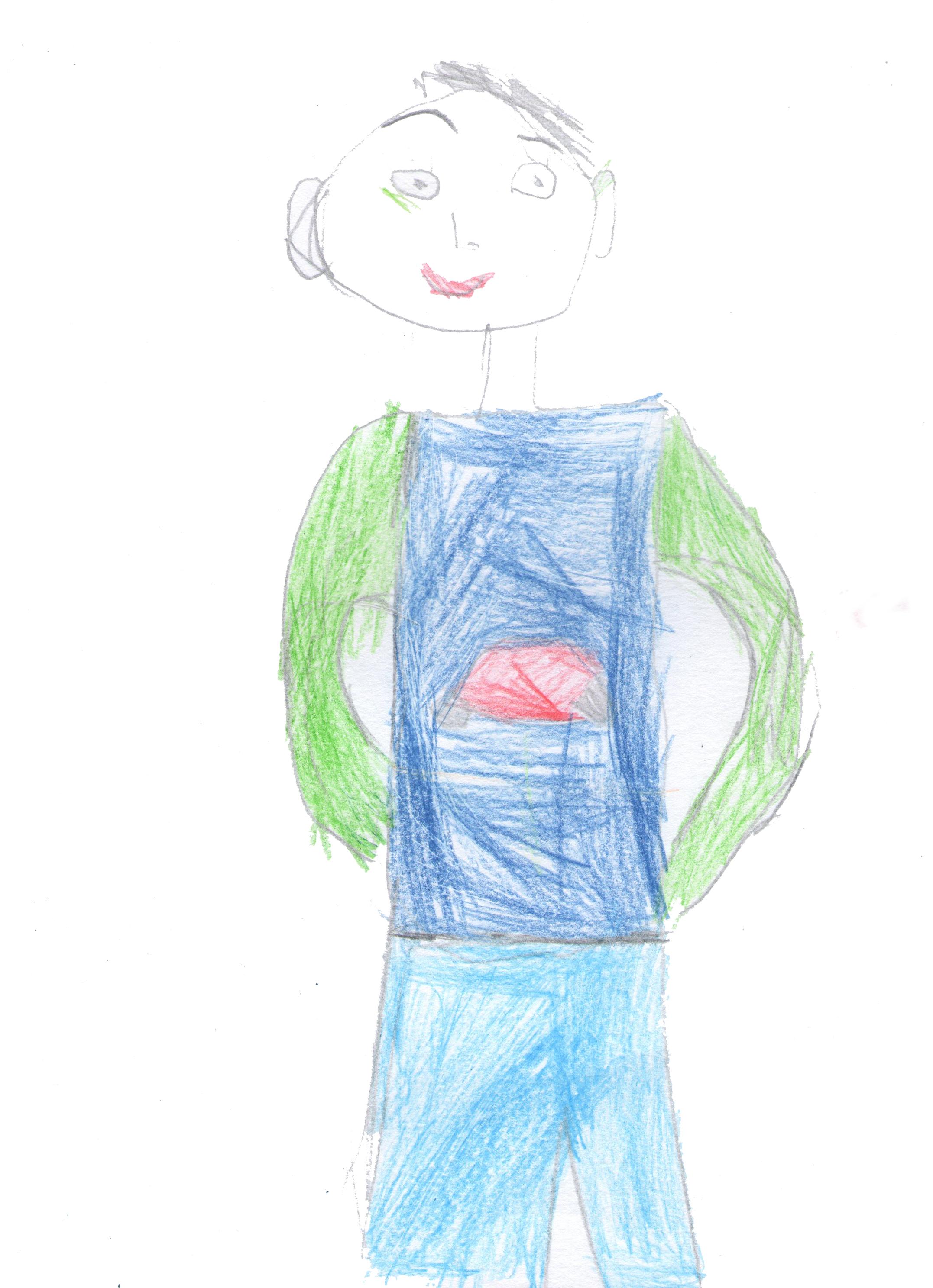 Gambar Sketsa Gambar Seni Anak Ilustrasi Mode Desain