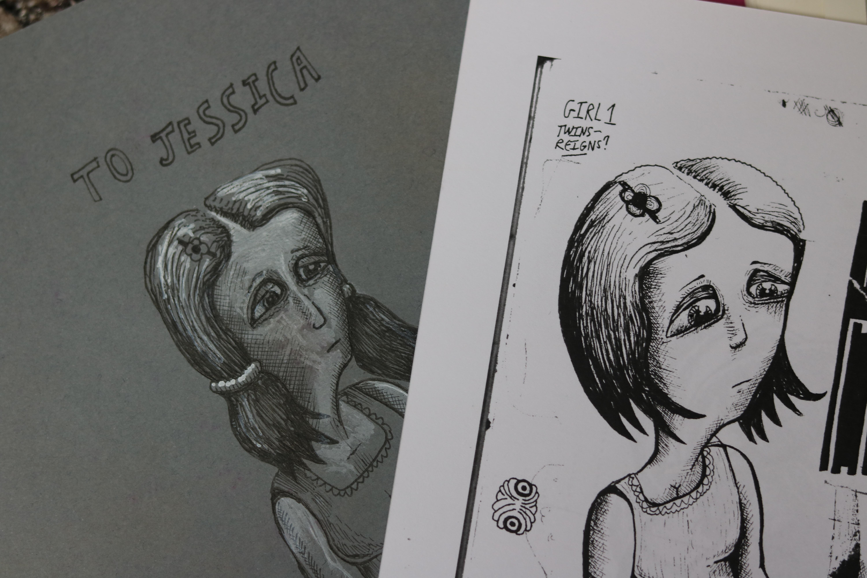 Gambar Seni Sketsa Ilustrasi Komik Gambar Kartun