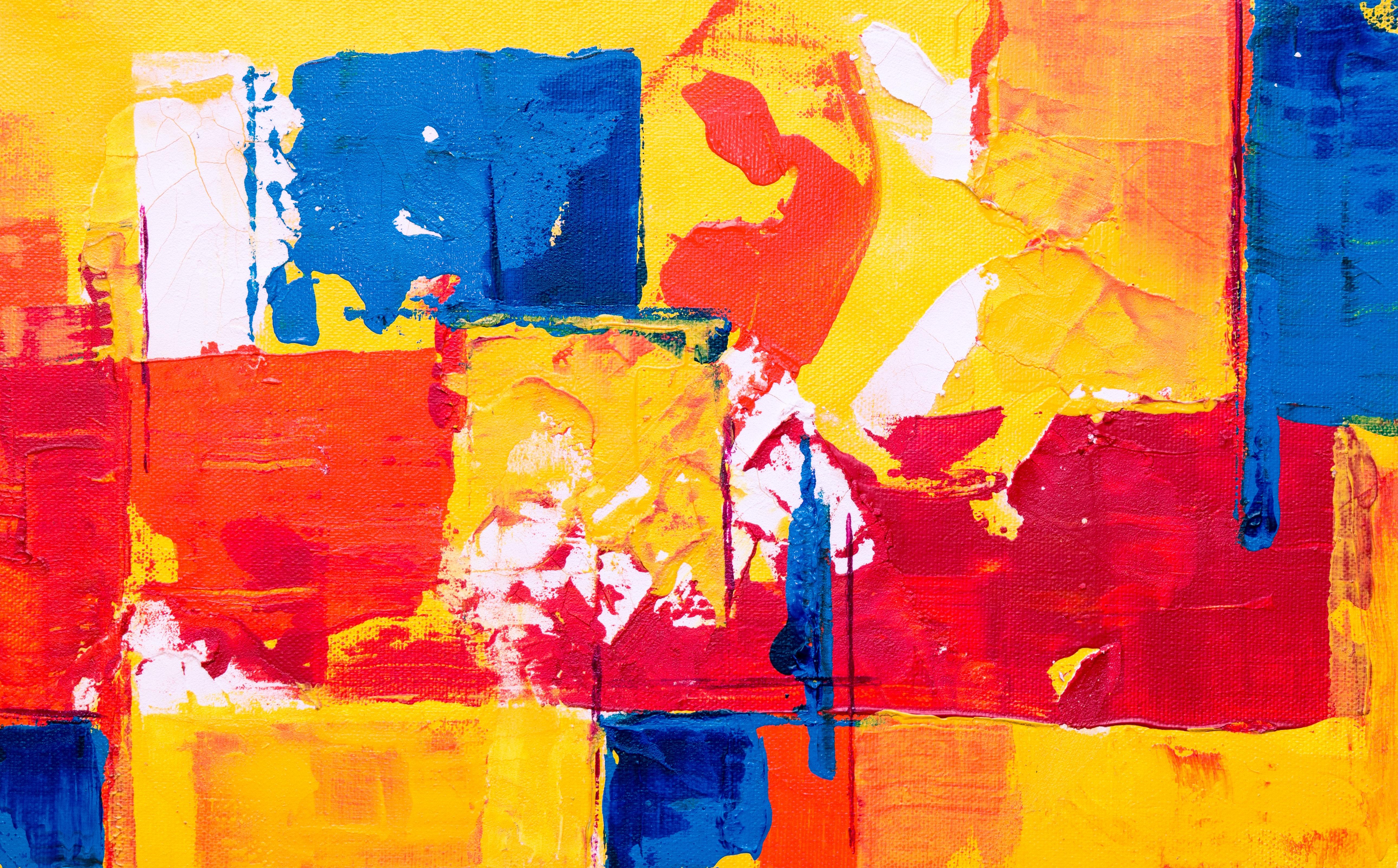 Modern Art Red Yellow Blue