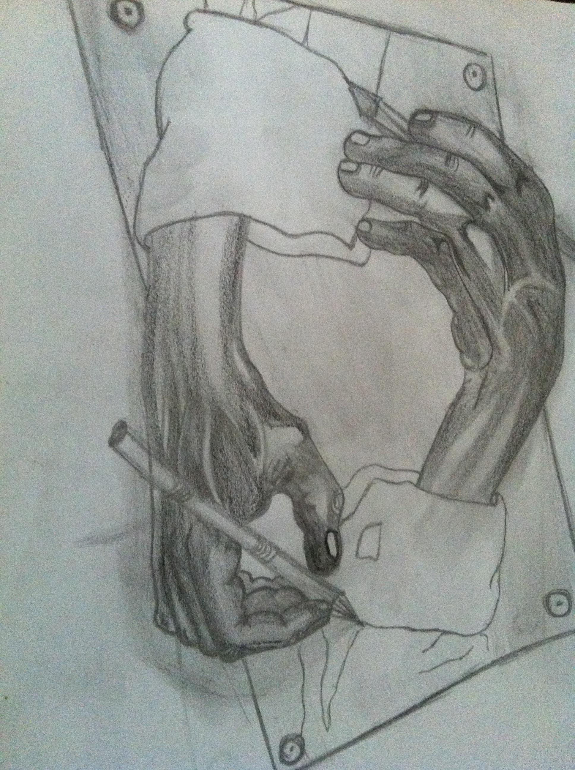 Karya seni lukisan sketsa gambar ilustrasi tangan pensil gambar pensil lukisan arang angka menggambar