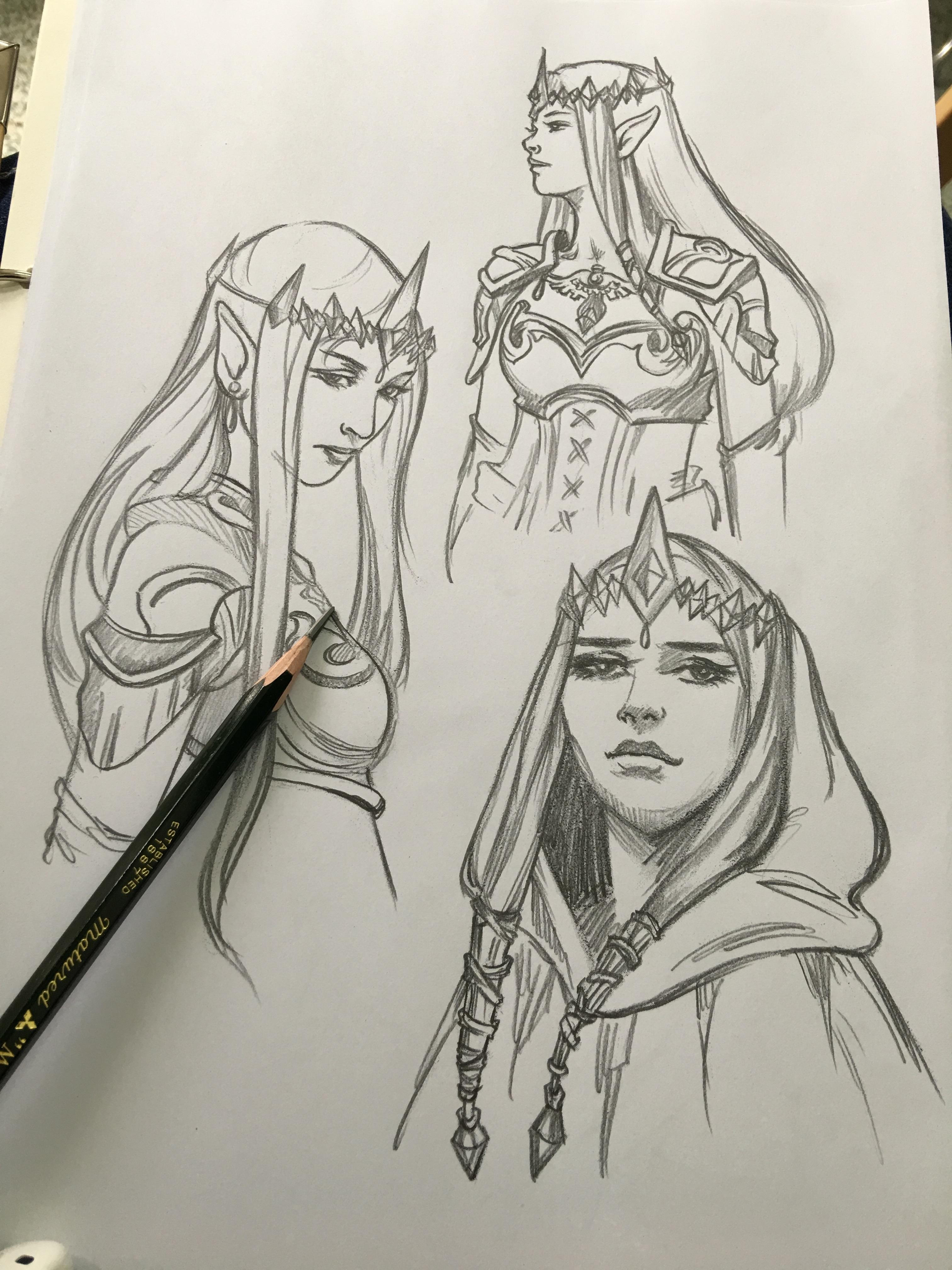 Gambar Karya Seni Sketsa Ilustrasi Karakter Gambar Kartun