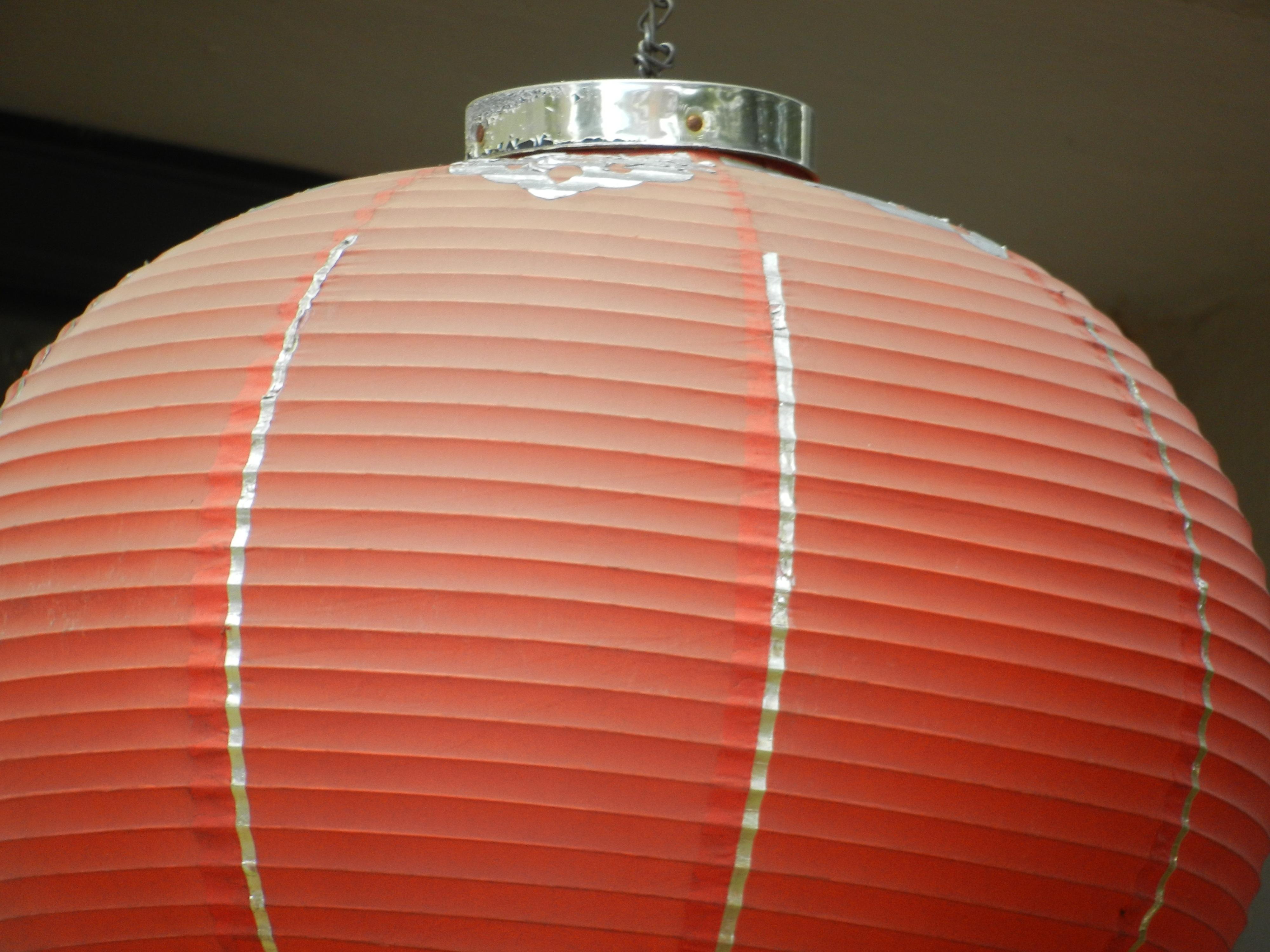 Asian Đèn Lồng Đỏ Màu Nhật Bản Thắp Sáng Vòng Tròn Mái Vòm Hình Dạng Phương