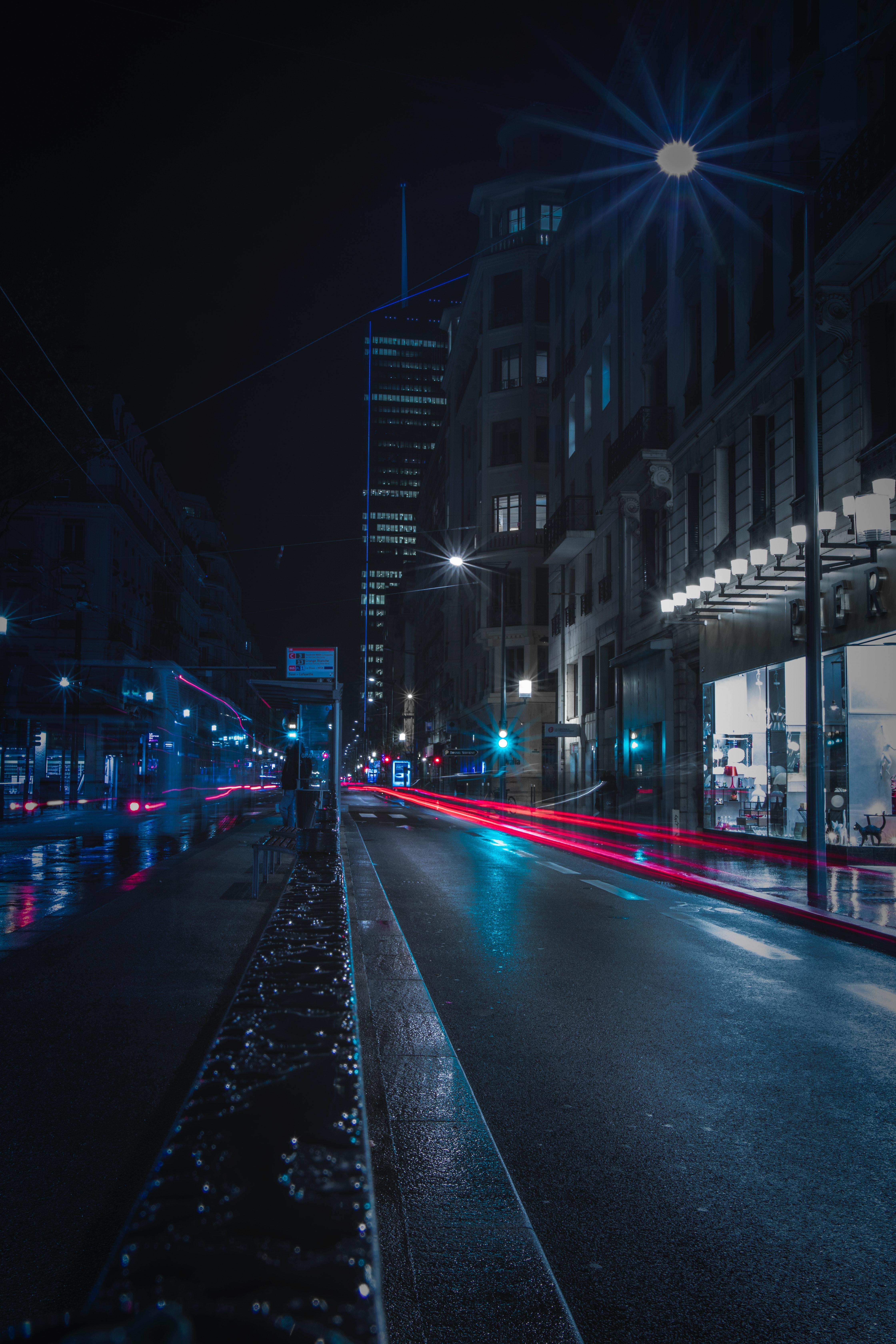 Free Images Asphalt Downtown Evening Long Exposure