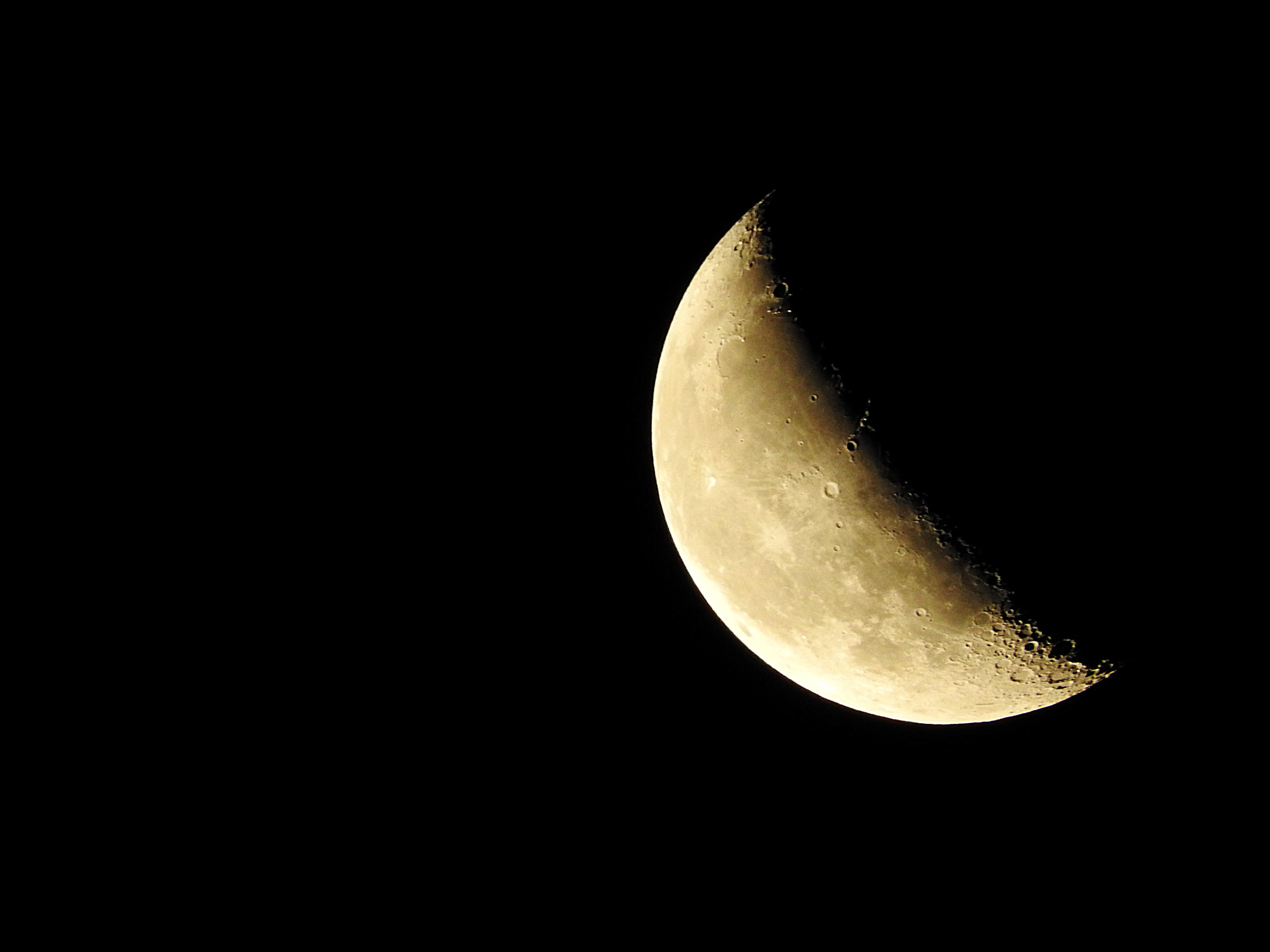 Gambar Suasana Lingkaran Bulan Sabit Objek Astronomi 4608x3456