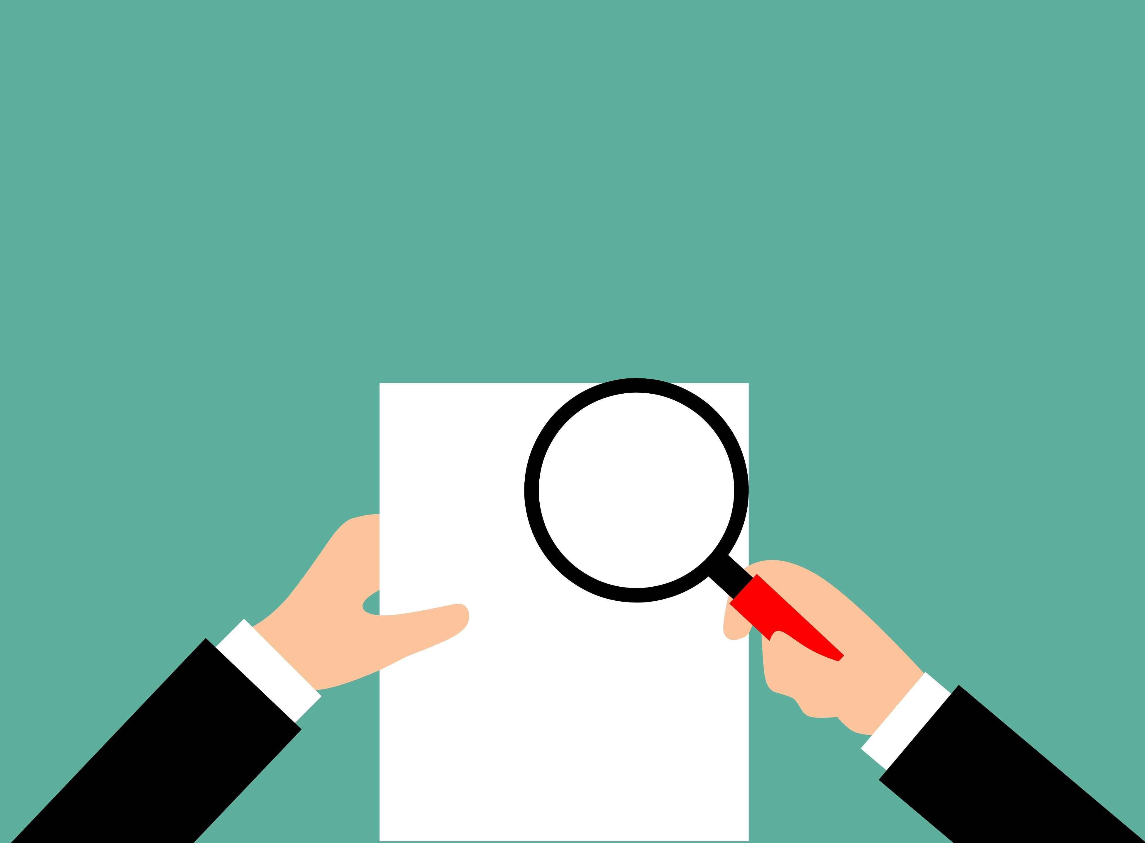 Free Images audit report verification magnifier