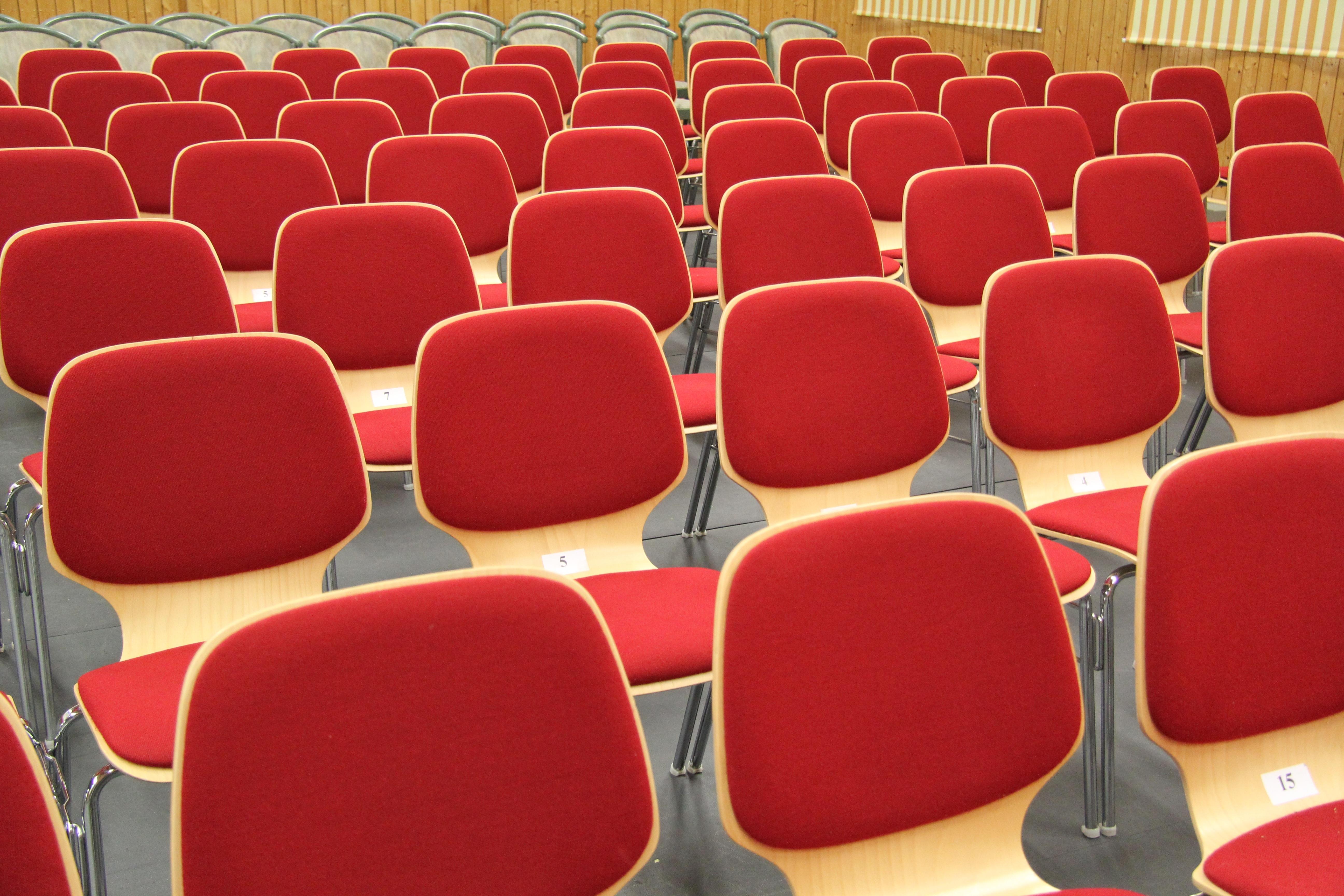 Free auditorium seating seat old furniture room