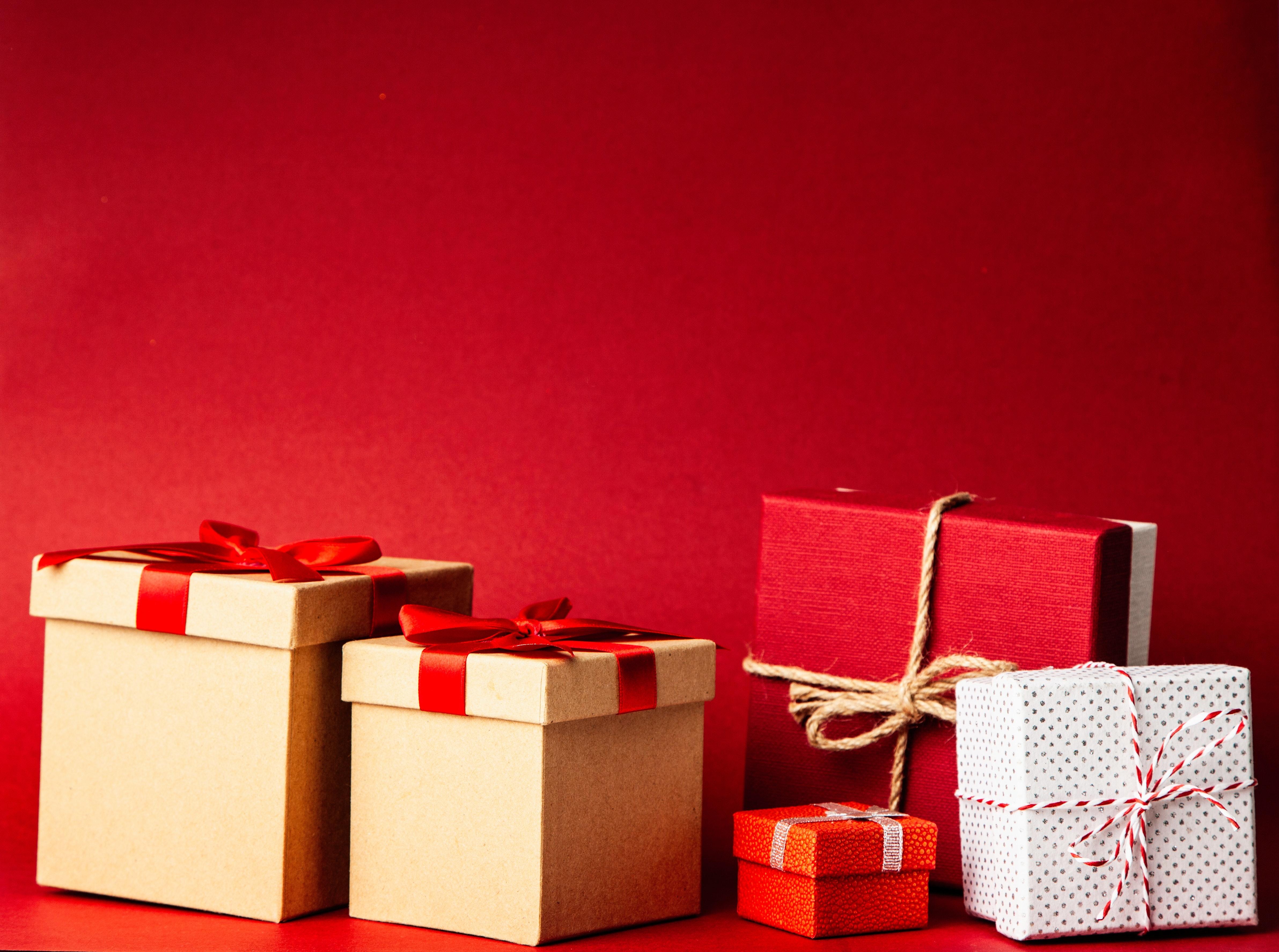 Scatole Per Regali Di Natale.Immagini Belle Sfondo Regali Di Natale Scatole Regalo I Regali