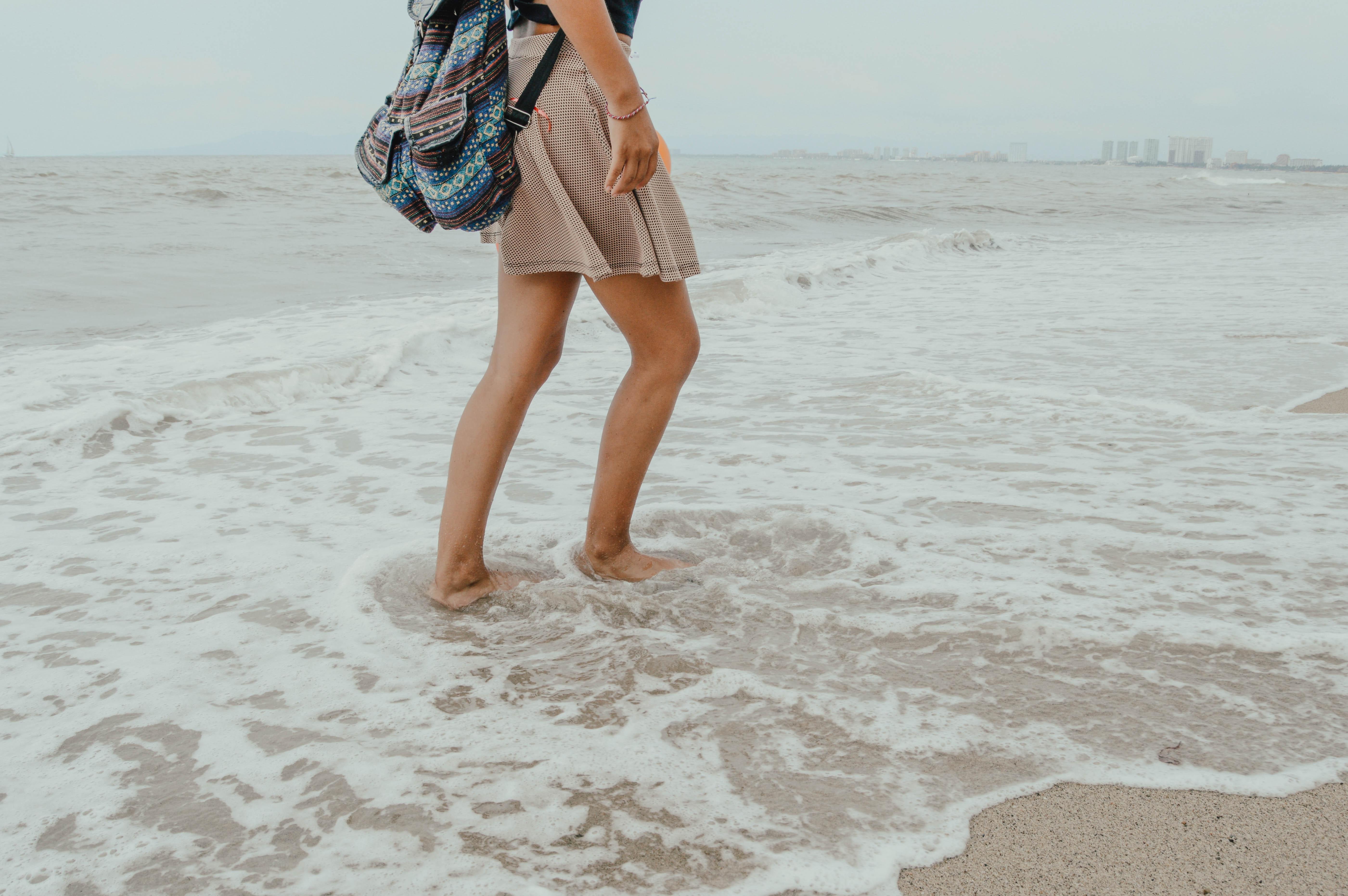 92a77be91 mochila bolso playa hembra divertido ocio Oceano Oceanshore Océano al aire  libre persona recreación mar costa