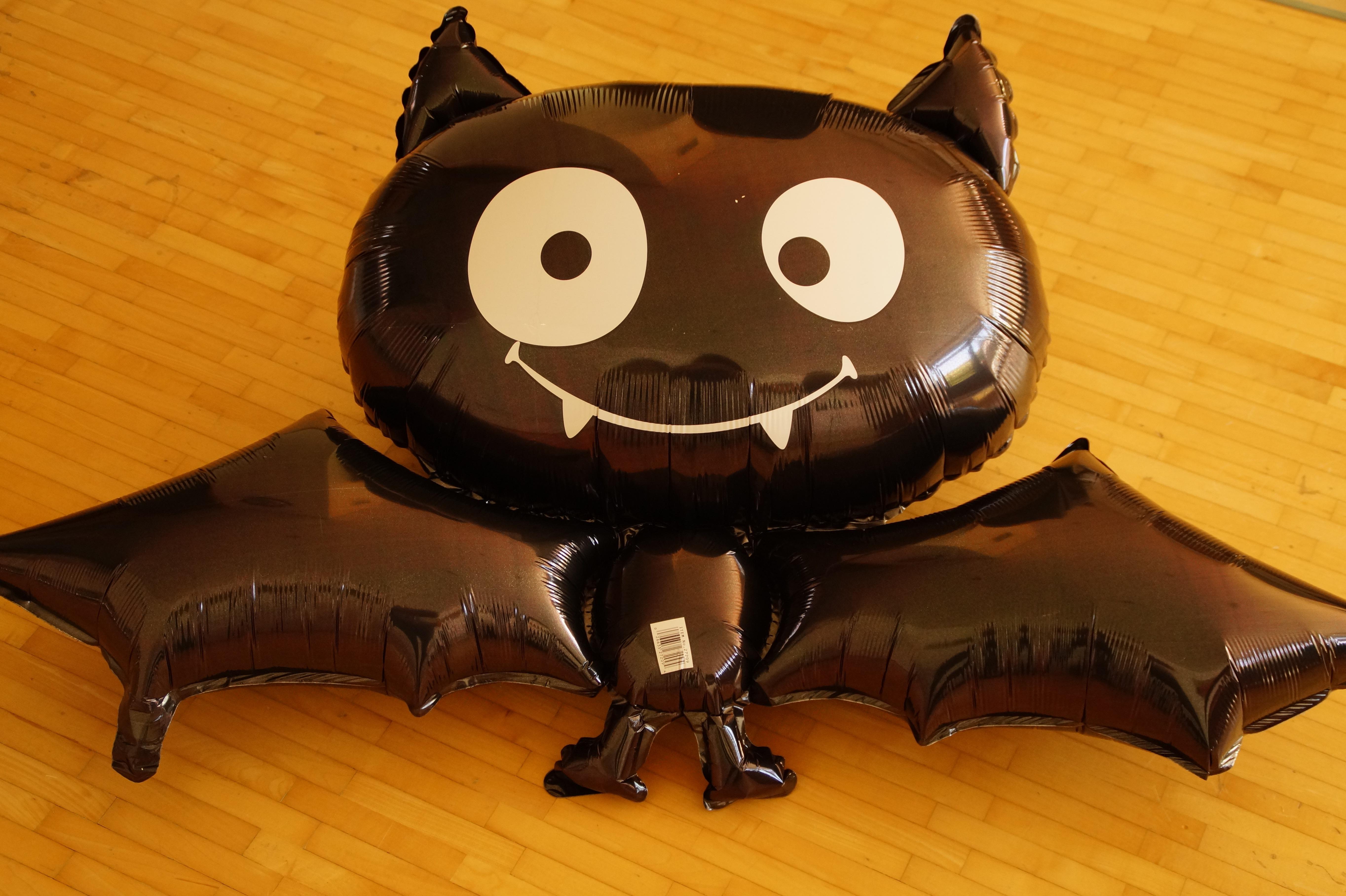 Gambar Balon Imut Dekorasi Halloween Anak Hitam