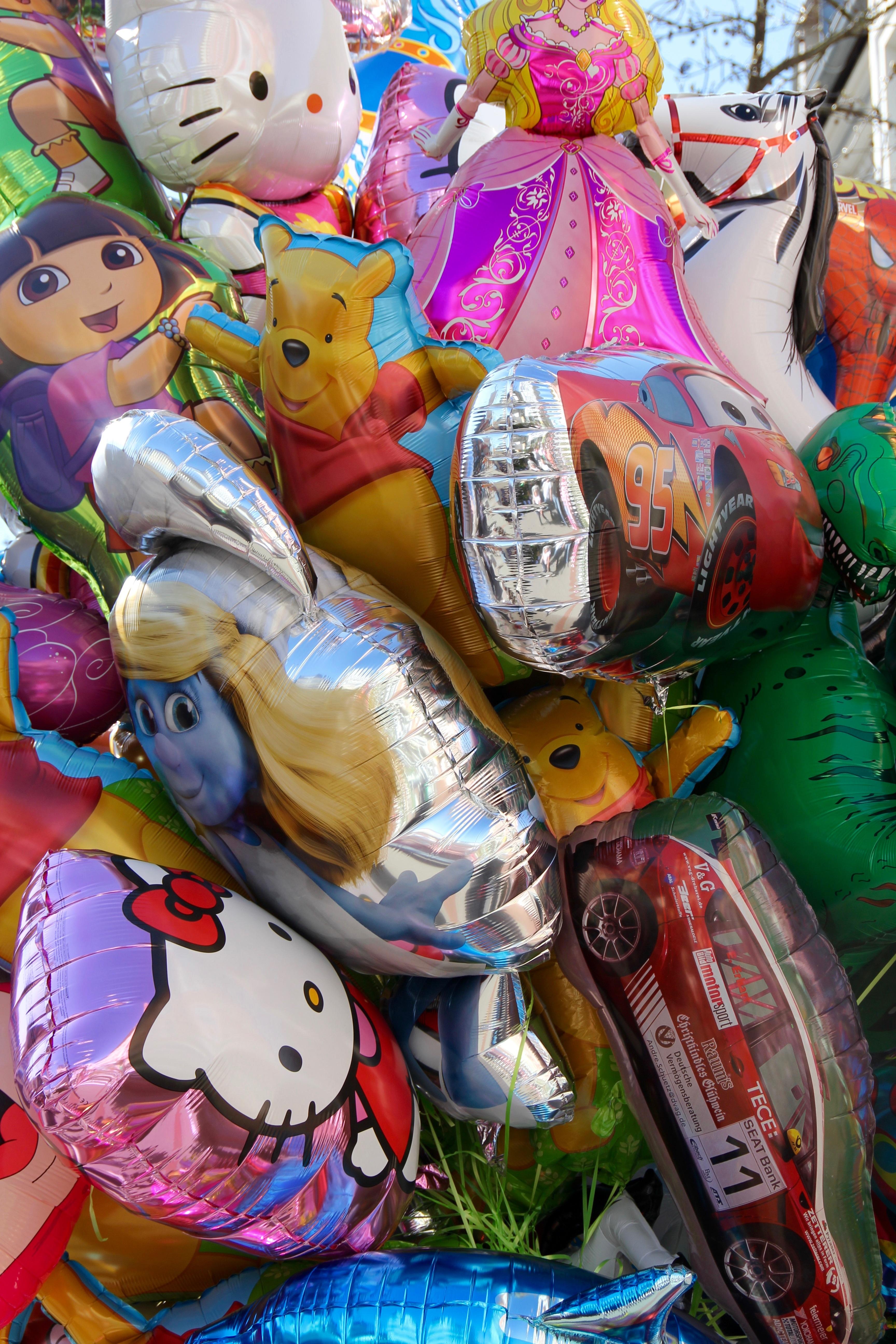 Fotograf Balon Dekorasyon Karnaval Lunapark Renk Renkli