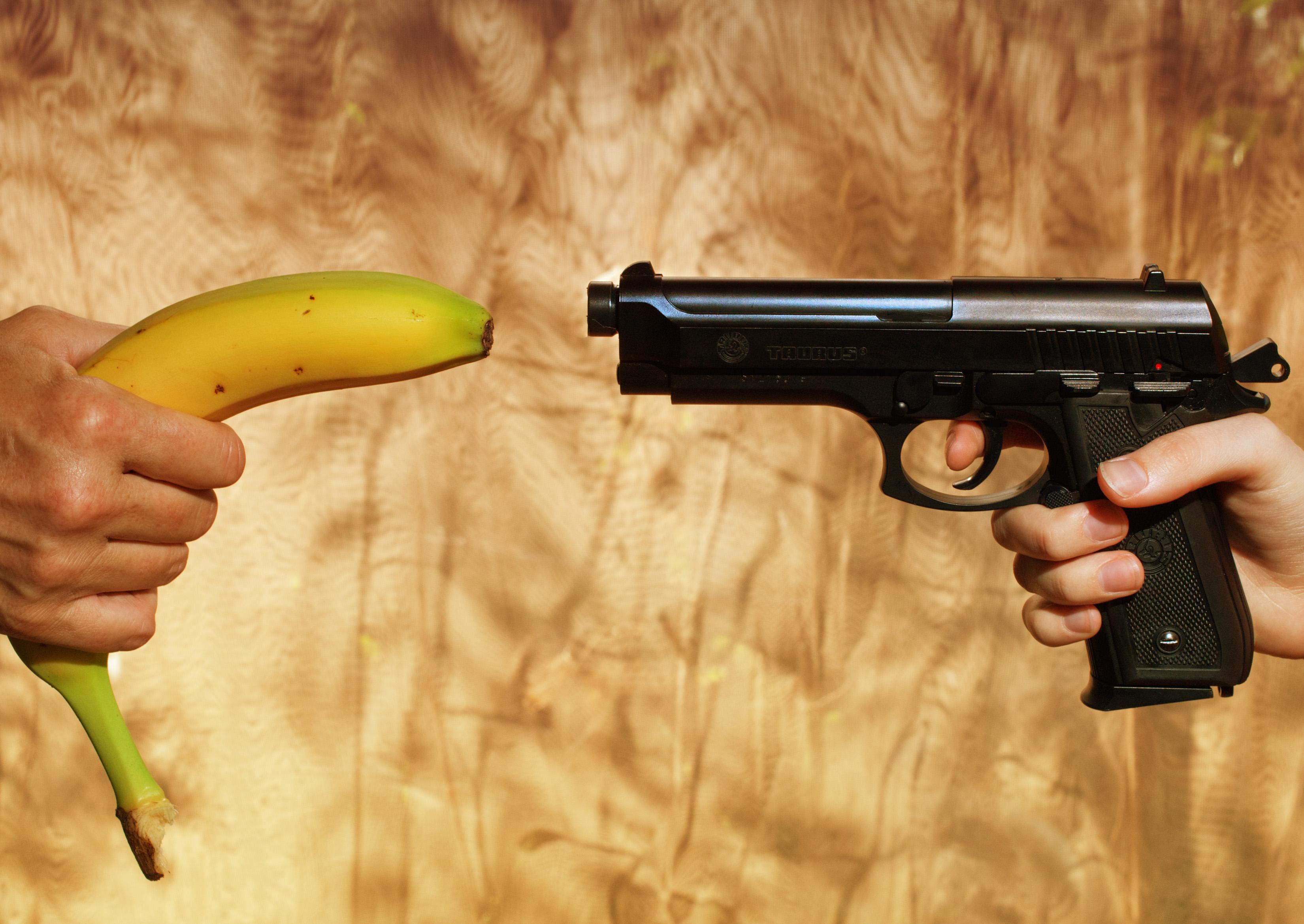 Картинка с бананом ножом